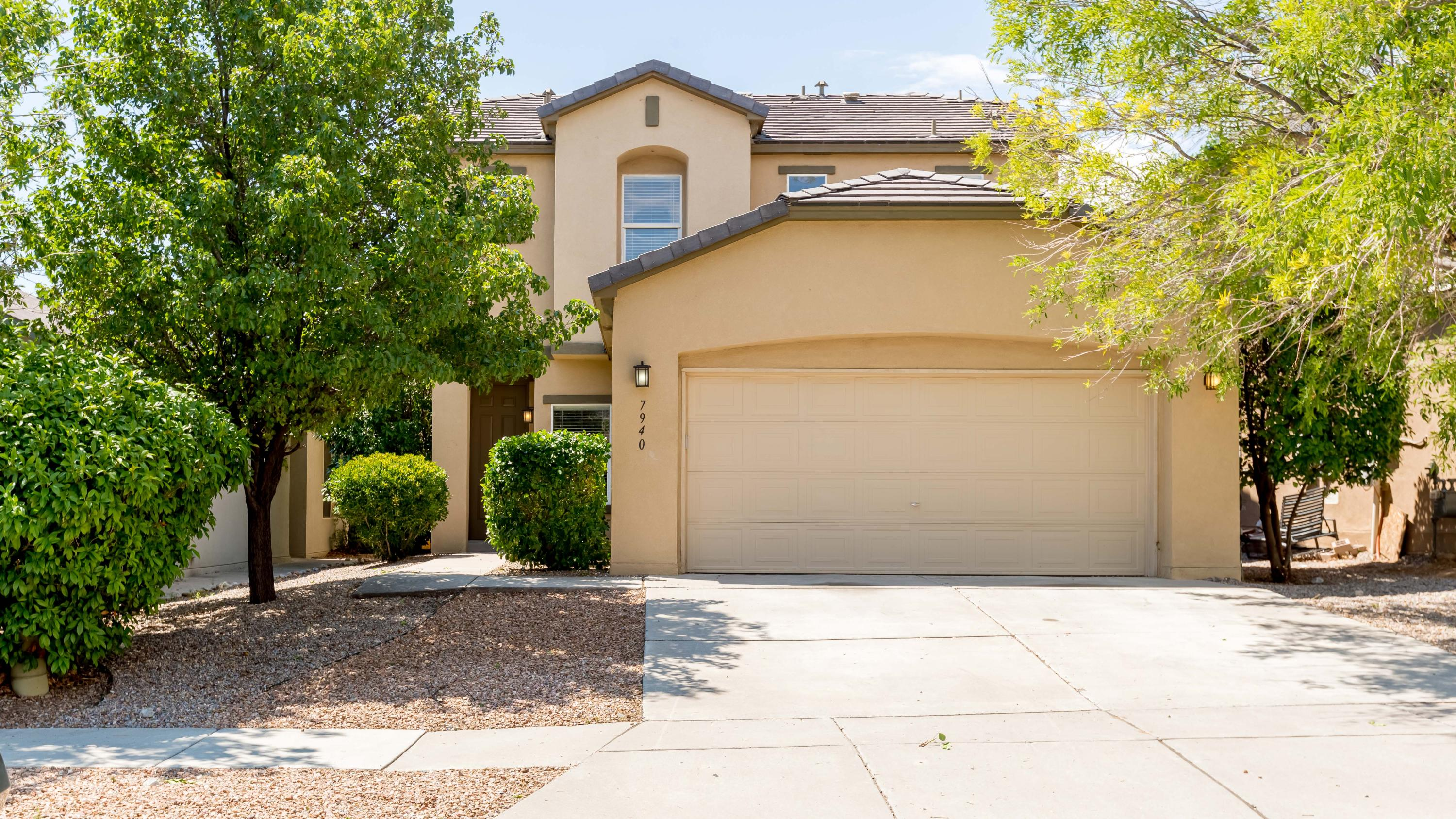 Beautiful Home with office and lots of upgrades! The main living room has tall ceilings and beautiful laminate flooring and a gas fireplace.  The open kitchen features LG stainless appliances including double ovens for the cook in your house!  There's a kitchen island has a bar for seating, breakfast nook, pantry, and elegant countertops. Upstairs in the master suite is a spacious bedroom and a luxurious bath with a separate jetted tub to soak peacefully in and glass shower.  Work from home in your home office with double doors.  Large laundry room and a finished garage with epoxy floor.  Enjoy the outdoors in the backyard with professionally designed landscape and turf.