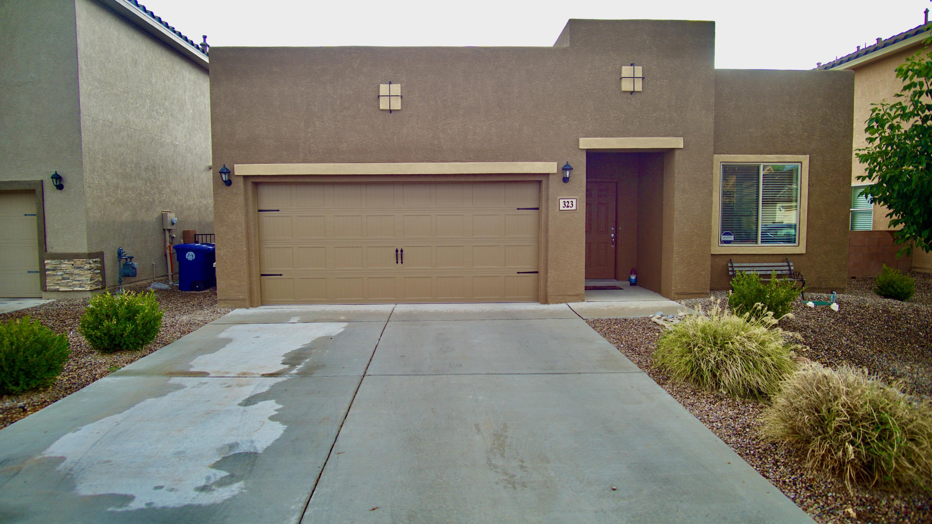 Come and see this wonderful newer home that is at the walking distance to the Bosque and Rio Grande in a private gated community! Wonderful open floor plan with stainless steel appliances, granite counter tops, high ceilings and so much more updates that come with a newer home! Large kitchen that has a bar top, pantry and  large dining room! Great sized owners suite that is separate from the two secondary bedrooms and has separate tub and shower, dual vanity and walk in closet completes this great suite! Large hall closet and laundry room just adds to the useful space that this home has! Covered back patio and blank canvass backyard will add to the amazing footprint of your home! Come and see this private house today!