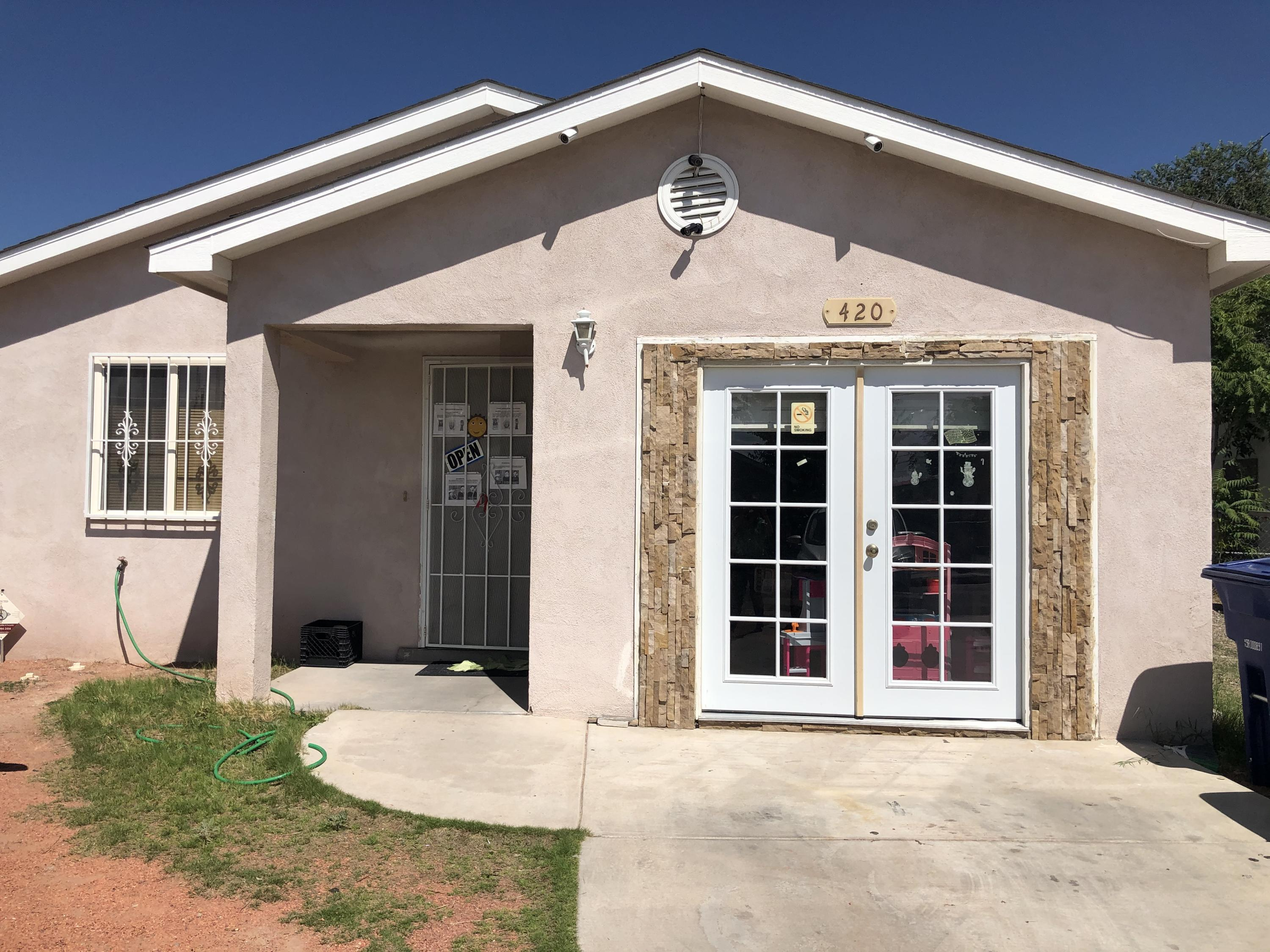 Very nice and very well taken care of newer 3 Bedrooms, 2 Baths home, plus Living and Family Room. 1 of the bedrooms had been opened to the garage since it's been used as a home daycare but, wall will be installed back to it's original shape, square footage includes that bedroom, but not the garage. The garage will be converted back as a garage, door still in place current door will be removed.(Note picture showing how would it look with French doors removed and  normal garage door)