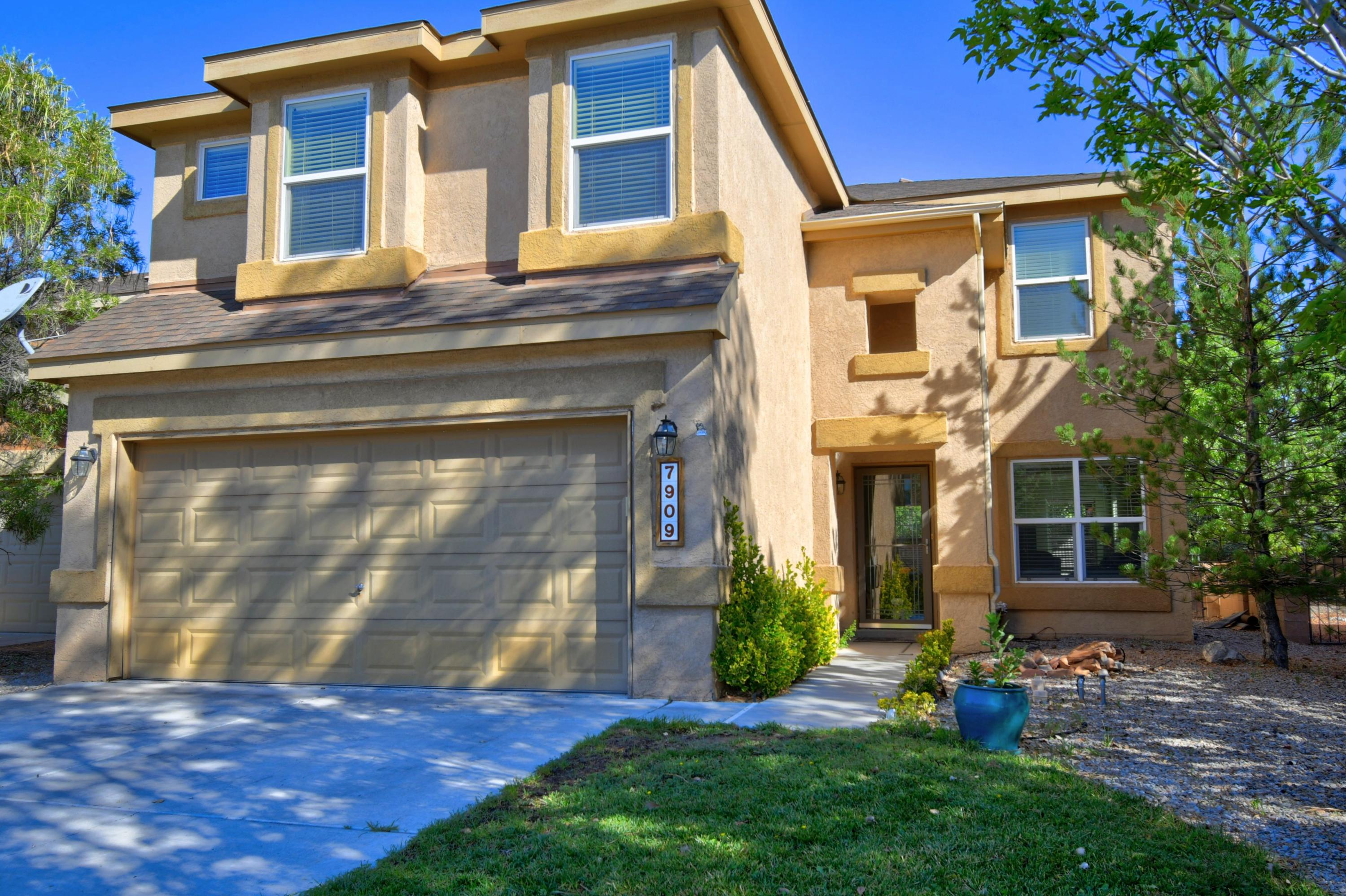 Wonderfully appointed and well loved home in Ventana West! Be welcomed by the open and airy floorplan. Engineered hardwood floors in the living area, tile in all wet areas, and carpet on the stairs, landing, and bedrooms. Carpet professionally cleaned 7/2020. Entertain and spend time with loved ones in the open concept kithchen with overflow to the ''extended living'' outside within the massive covered patio. Property boasts a very large lot with room to suit anyone's needs. Upstairs you will find the large sleeping spaces, all appointed with walk-in closets. Unattaced fireplace in master bedroom does convey, not to mention all appliances! New water heater installed 02/2020! Great value in desirable school district. Audio and video surveillance being used.