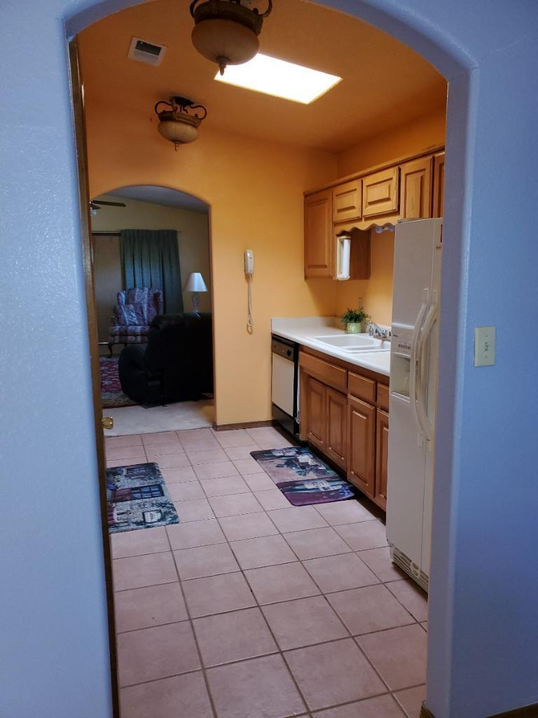 This home is perfect quick access to Albuquerque and Los Lunas.  Neighbor on one side, ditch and field on side and back.  Beautiful view of mountains in shaded back yard.  Priced right to make this one your own with paint and a few upgrades.