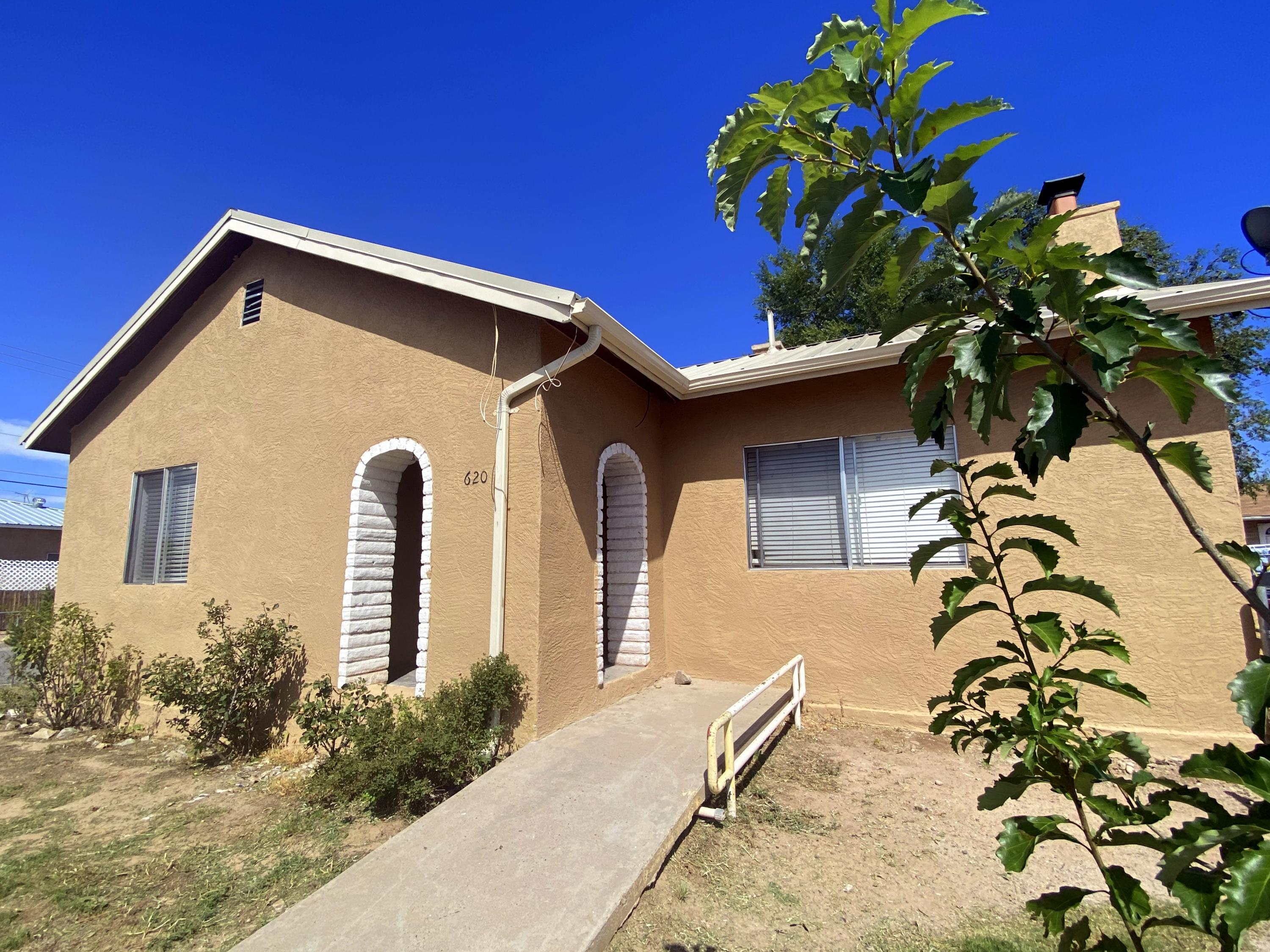 Charming Investment Property in the Heart of Belen. 1,462 SF Adobe Duplex with New Metal Roof, less than one year old. Naturally Well Lit, Hardwood floors and Roomy Bedrooms. Easy to lease. Unit A is 628 SF with 2 bedrooms and 1 bathroom and rents for $600/month. Unit B has a tenant and is 834 SF with 1 bedroom and 1 bathroom and rents for $500/month.