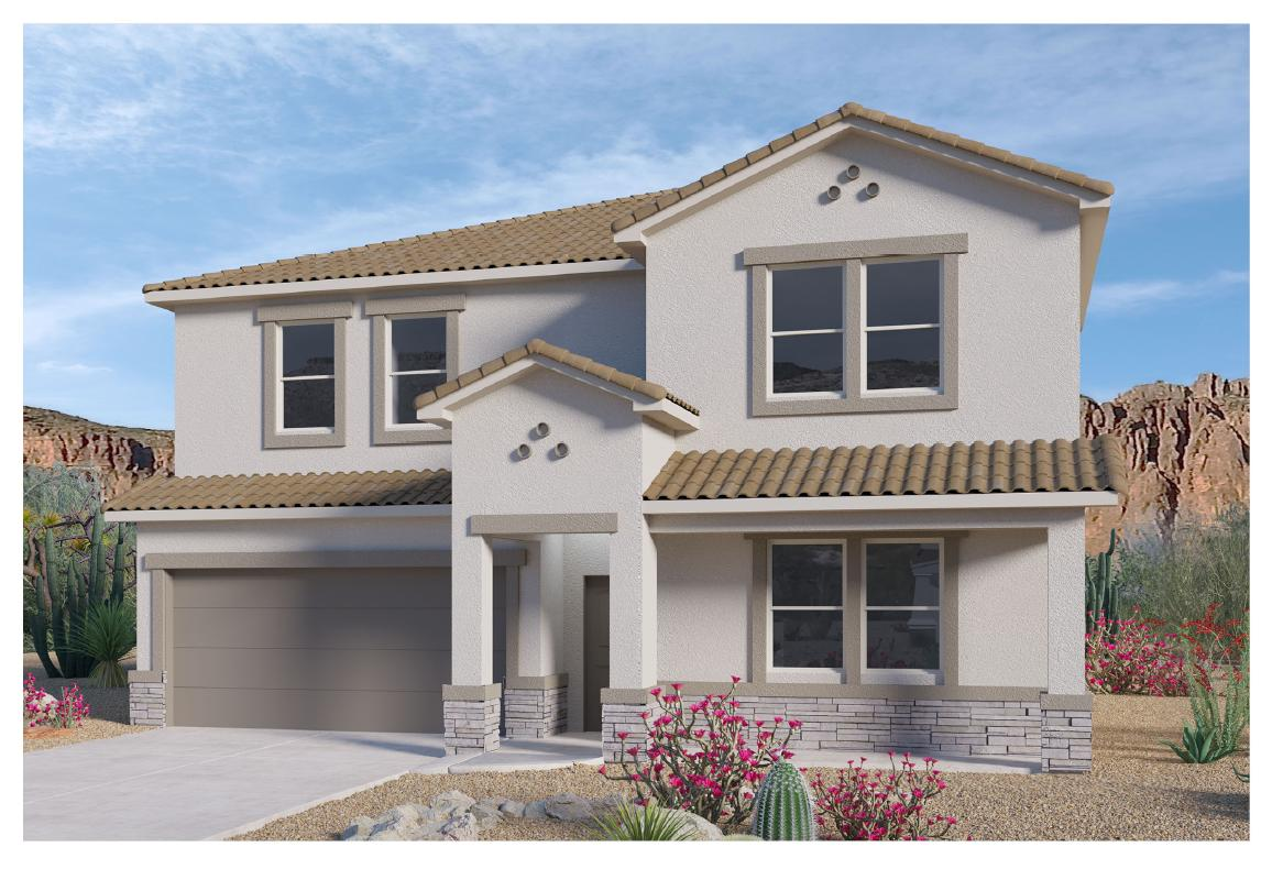 Beautiful NEW HOME in the Volterra IV community in SE ABQ! This never lived-in home is CURRENTLY BEING BUILT. Our incredible 2-story ''Peyton'' model offers a bright and open kitchen / living area with GAS FIREPLACE. Besides plenty of standard features like granite kitchen countertop and tile flooring, the BUILT-IN CHEF'S KITCHEN, 8FT GLASS FRONT AND BACK DOOR and FRAMELESS HEAVY GLASS WALK IN SHOWER / GARDEN TUB COMBO will make your home your OWN! Primary bedroom is secluded on the main floor and a flex room in the front of the home can be utilized as study or office. A gas stub at the outdoor covered patio will ensure a stress-free family bbq... Call today to set up a showing of our beautiful model homes or to learn more about our Volterra IV community!