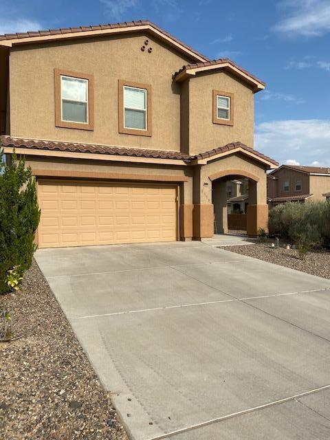 ****SEE LO/SO REMARKS FOR SHOWING***  This is a stunning home that is situated on an over-sized corner lot with view of the Sandia Mountains.  Granite Kitchen, ceramic back splash, SS energy star appliances, upstairs laundry room plus fully landscaped.  This home is move-in ready.   ****SEE LO/SO REMARKS FOR SHOWING***