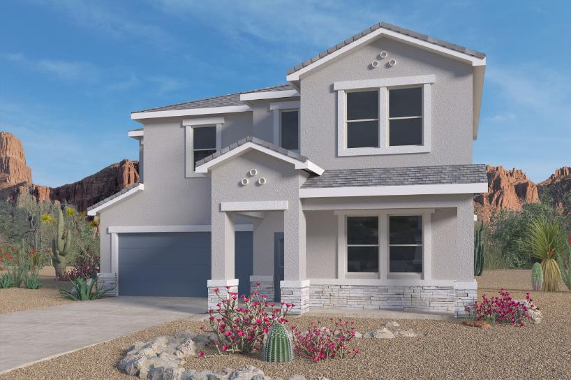 Beautiful NEW HOME in the Volterra IV community in SE ABQ! This never lived-in home is CURRENTLY BEING BUILT. Our incredible 2-story ''Orlando'' model offers a bright and open kitchen / living area. Besides plenty of standard features like granite kitchen countertop and tile flooring, the BUILT-IN CHEF'S KITCHEN, 8FT GLASS FRONT AND BACK DOOR and FRAMELESS HEAVY GLASS WALK IN SHOWER / GARDEN TUB COMBO will make your home your OWN! Primary bedroom is on the main floor and a flex room in the front of the home can be utilized as study or office. A gas stub at the outdoor covered patio will ensure a stress-free family bbq... Call today to set up a showing of our beautiful model homes or to learn more about our Volterra IV community!