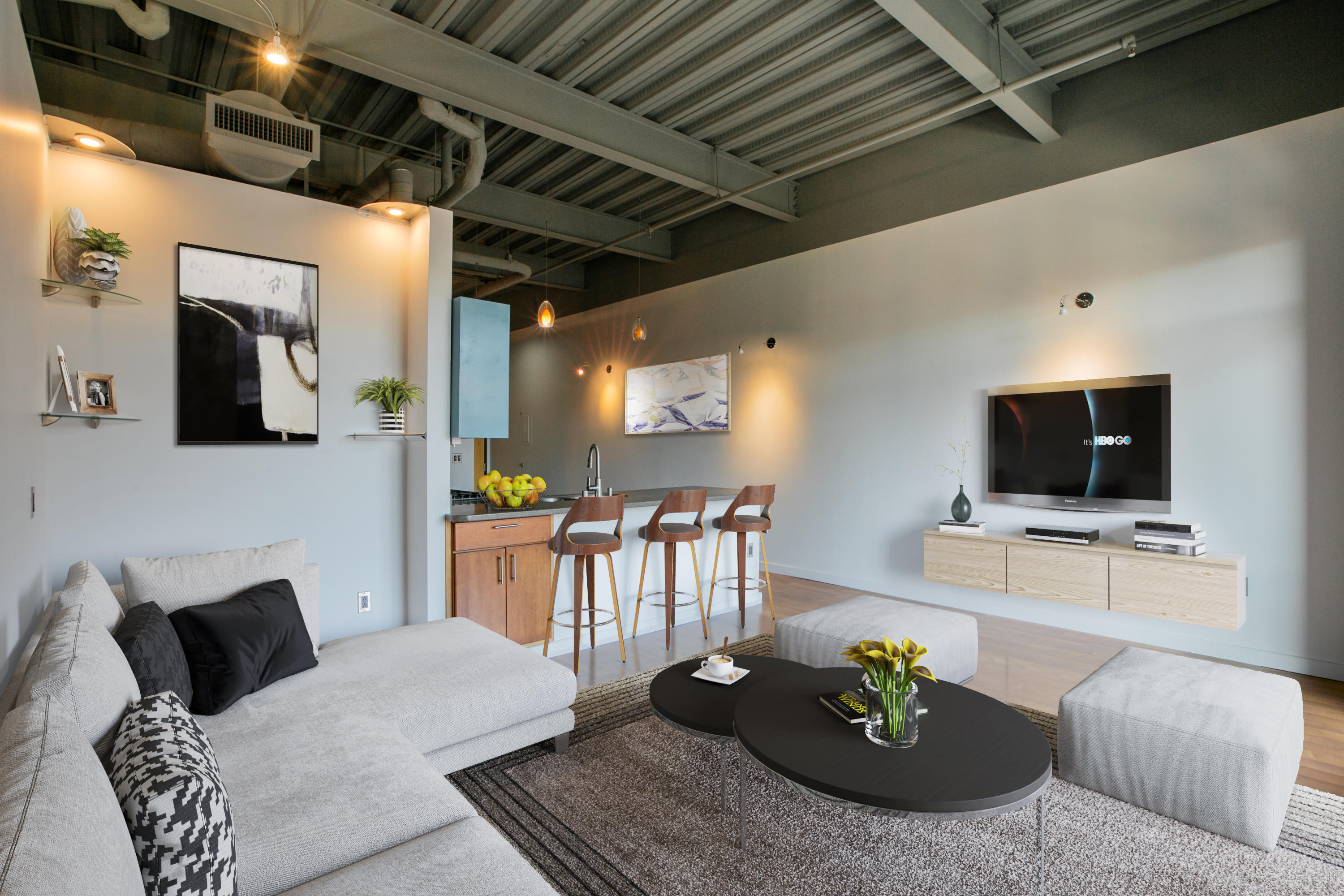 This 2 bedroom, 2 Bath Loft Condo is located in the heart of Downtown Albuquerque. Steps away from the Alvarado Transportation Complex, including the ART. Close to hospitals, UNM, & CNM. The Silver Street Market is conveniently located across the street. Very high cielings contribute to this lofts open and airy feel. Blackout shades on all windows for privacy. The master bedroom chandelier adds a bit of romance and warmth to the space. California Closets has created a master bedroom walk in closet with ample storage. The washer/dryer is also conveniently located in the master closet. A towel warmer was added to the master bath for those chilly mornings.  Please schedule your tour of this must see condo.
