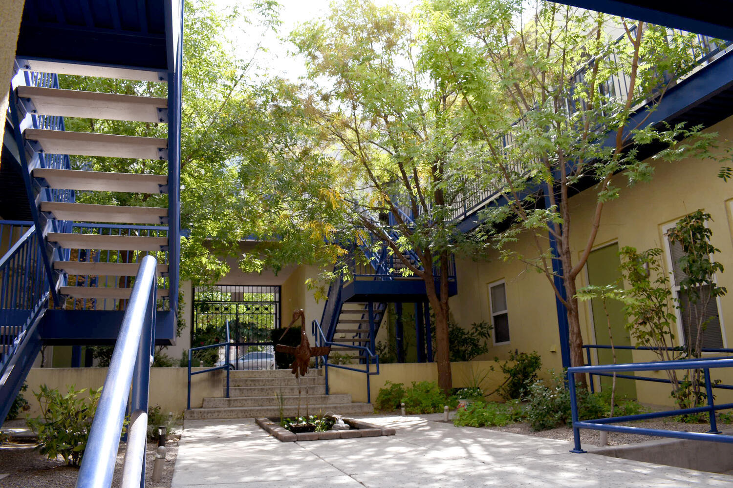 The perfect studio condominium! It is a fantastic building and community. Your very own Pied-a-terre in the Historic Huning Highland district! The courtyard is shady and cool with a great water feature!  This unit is fully updated with modern lighting, finish, floors and a fantastic high-end kitchen. Two head mini-split for climate control. Tasteful colors, high ceilings,  and fantastic light make the space feel big and open! There is a private deck/balcony that gets great morning light. Without a doubt one of the most convenient locations in the city, close to Downtown, UNM, the airport, public transportation and every conceivable service! Thanks very much for looking!