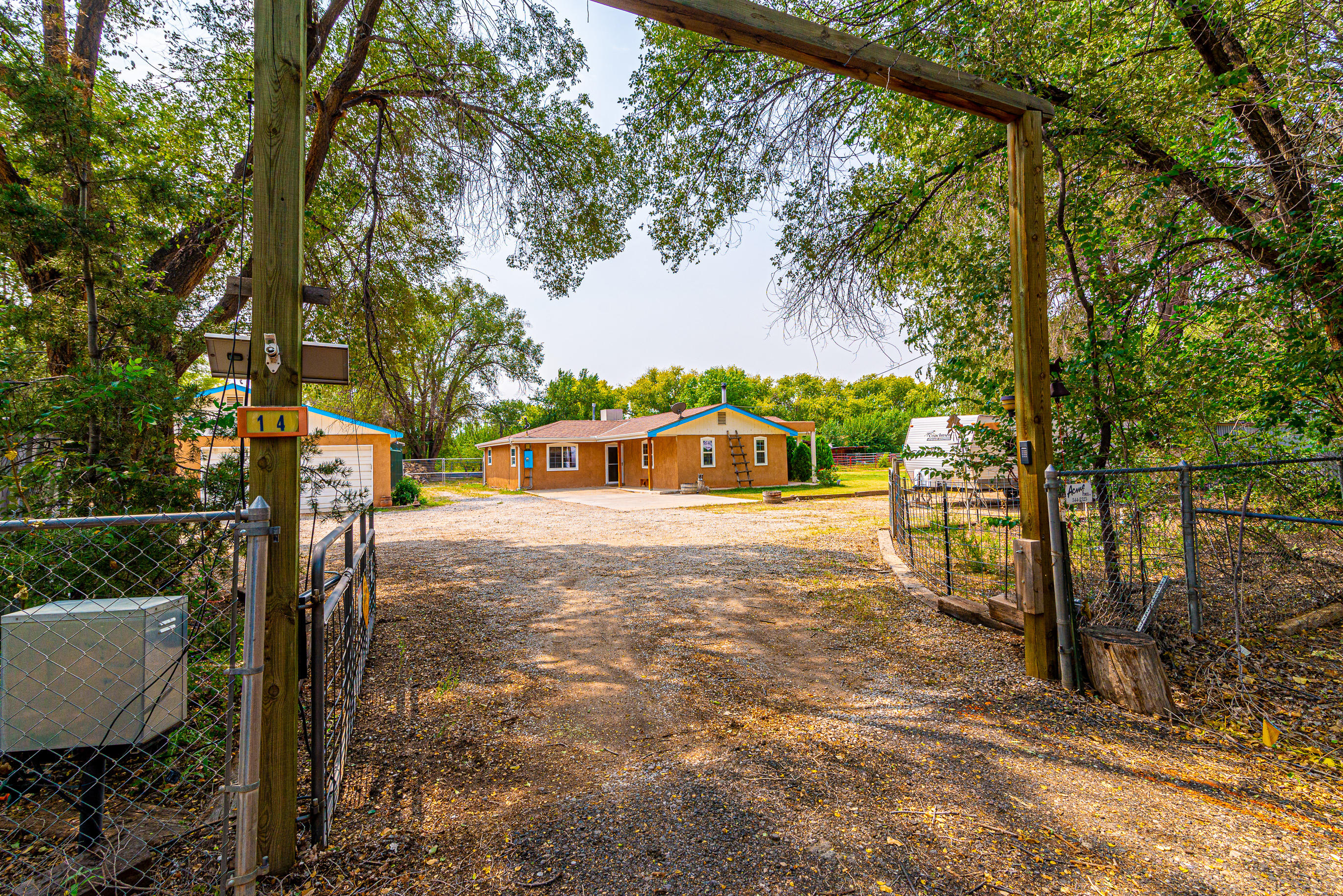 Fantastic single-family ranch home on 1.4 acres at the end of a peaceful culdesac drive--horse lovers/gardeners paradise. Incredible setting! Inside you'll find a large greatroom with saltillo tile flooring, wood stove and lots of light; Kitchen has pretty tile counter/backsplash, gas cook-top and barista/buffet area;  Gorgeous sunroom has valuted ceilings, skylites   overlooks lush grounds. Main BR has pretty vinyl plank flooring, tile throughout home-no carpet, office could be 4th BR. Lrg service room has tons of storage, updated baths. Horse stalls, arena, hay shed--outside storage everywhere. Oversized garage is a woodworkers dream. Shows great!