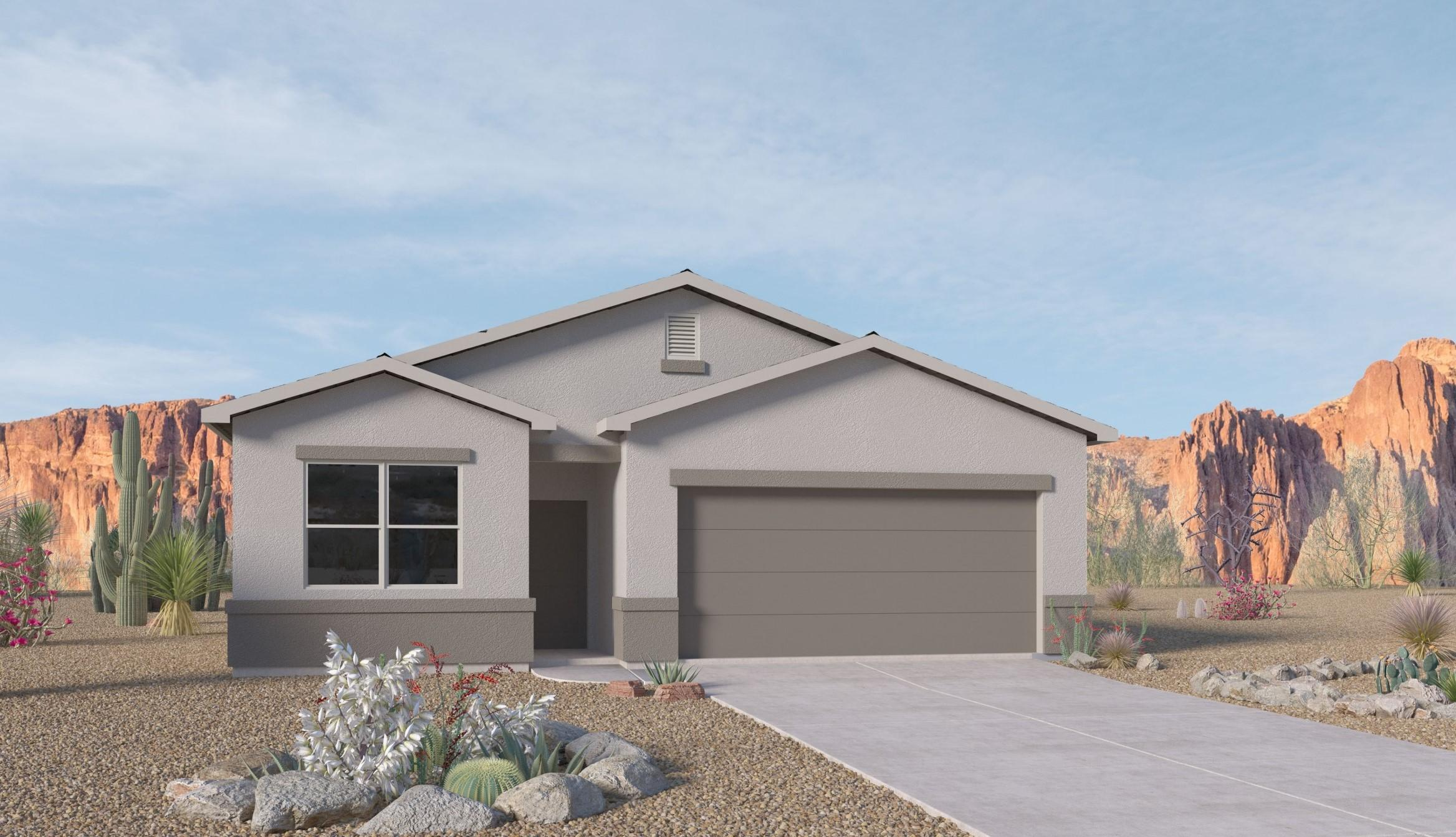 This brand new ''SMART'' home should be completed and ready for your family to enjoy in Jan. Granite counter tops give a lovely touch to the Dark Wood Cabinets that really show off the Black Whirlpool appliances.  18 x 18 floor tile in Kitchen, baths and laundry room. 9 foot ceilings & Blinds throughout home.  Yes, all brand NEW.  The ''CHAMA'' is an open floor plan with 4 bedrooms.  The family room looks out over the covered patio to the back yard.   Solcito is close to swimming pool, library, soccer fields, equestrian,  ice skating rink, schools, shopping and restaurants.  Come see why so many folks are making Solcito their ''NEW'' neighborhood. Ask about move in package, washer/dryer, refrigerator and garage door opener.  (Photos of previous model home)