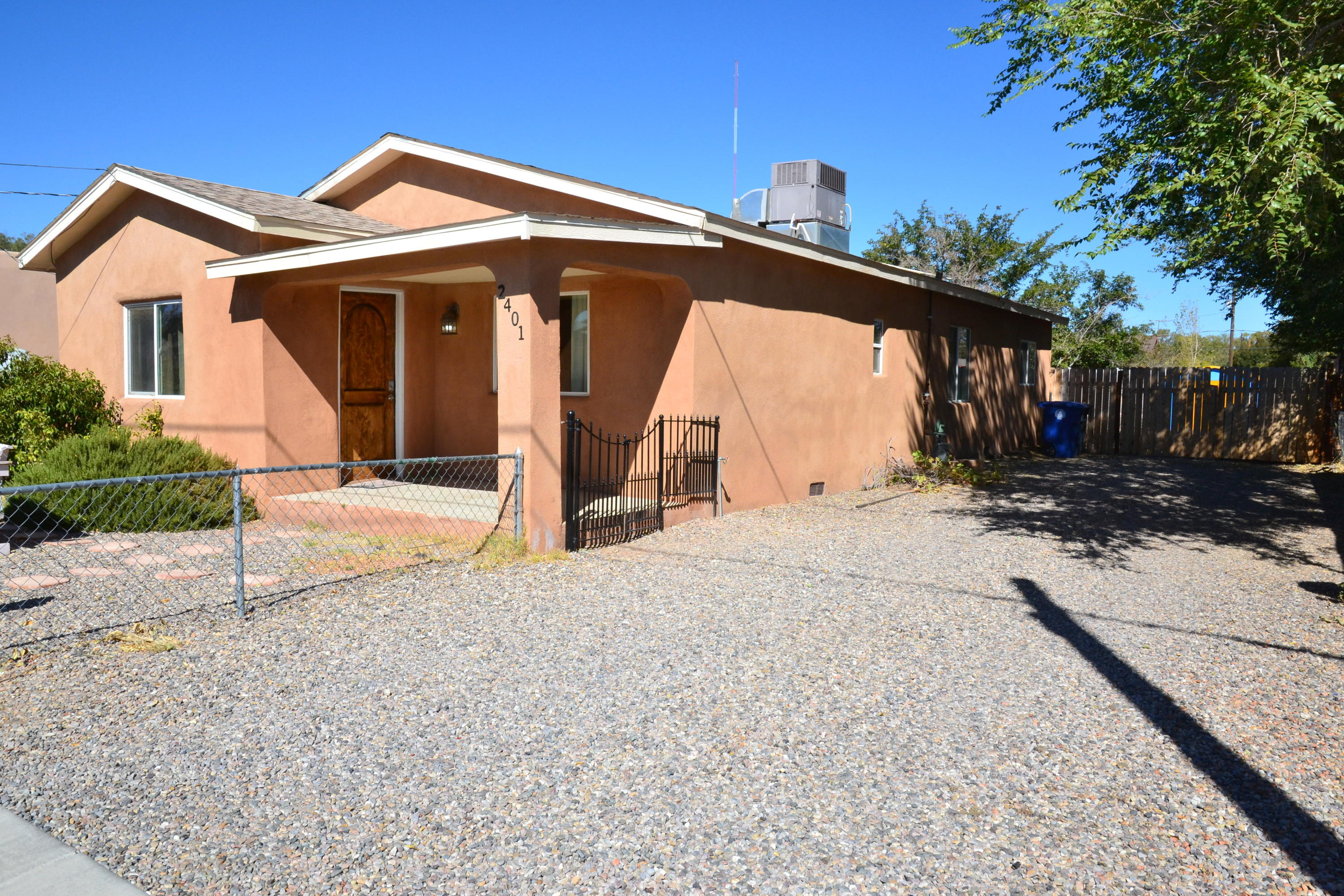 Come see this great property located near Old Town, The Albuquerque Country Club and Down Town!This home was remodeled a few years back and features a great kitchen with stainless appliances and granite counter tops and a breakfast bar, hard wood flooring, cedar lined closets, two full bathrooms, three bedrooms, a living room, dining room, laundry area, back yard access and a huge back yard for all of your needs!See this one today!