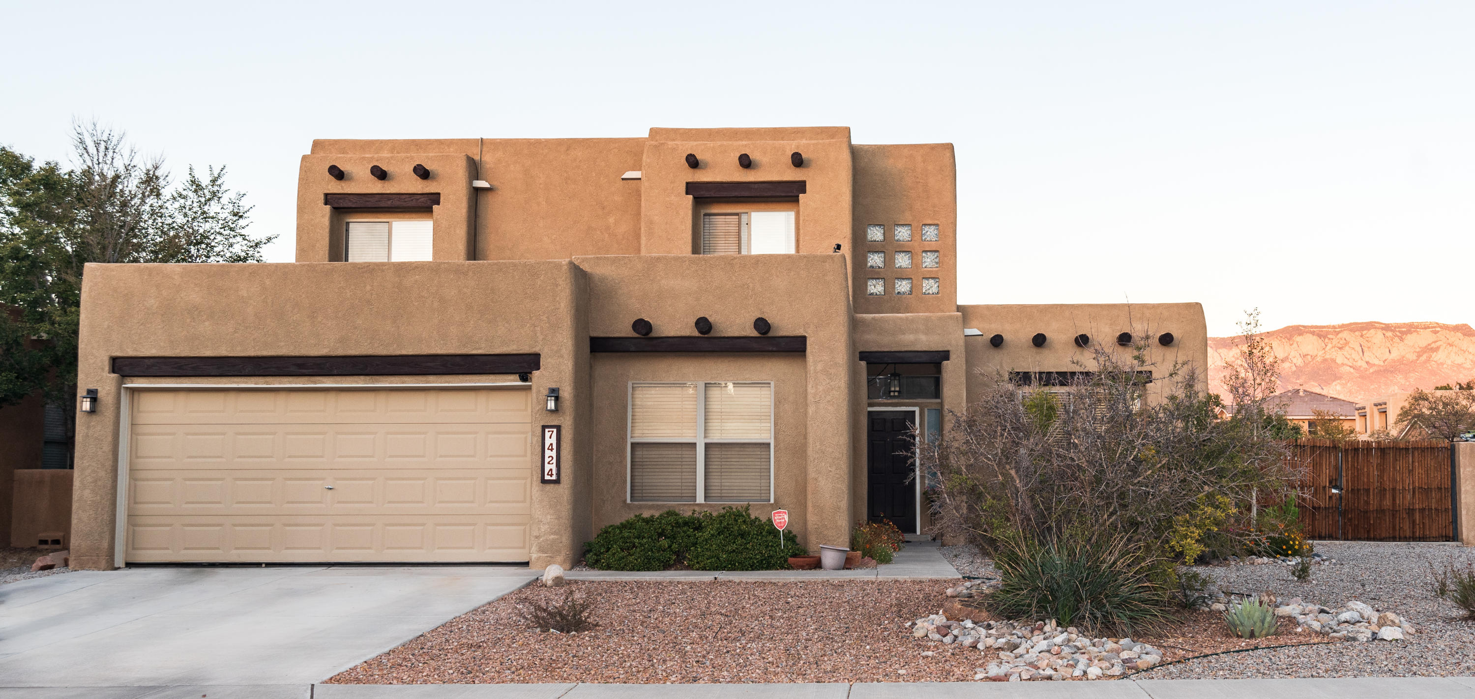 Nice 4 bedroom 3 full bath home with spacious office! Main bedroom upstairs with balcony to watch the morning sunrise over the Sandia mountain and two walk-in closets! One bedroom and one full bath downstairs. Come take a look!