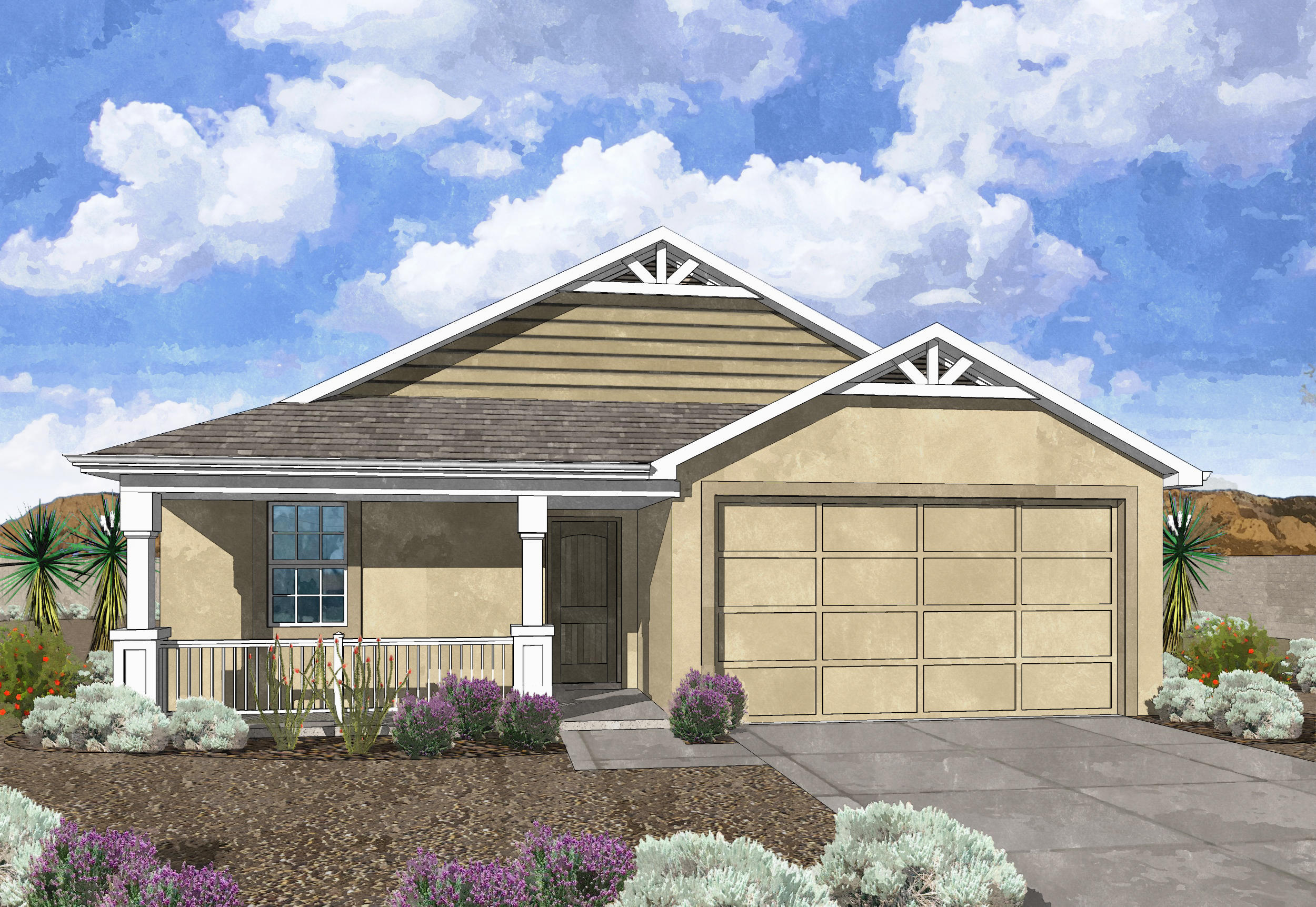 Westway Homes Introduces the Agate in De La Reina! This is Belen's newest community and offers 5 great floor plans to accommodate all needs. The Agate is a 3 bedroom, 2 bath open floor plan. Come be a part of Belen's newest community. Home will be complete and ready to move in to in November 2020!