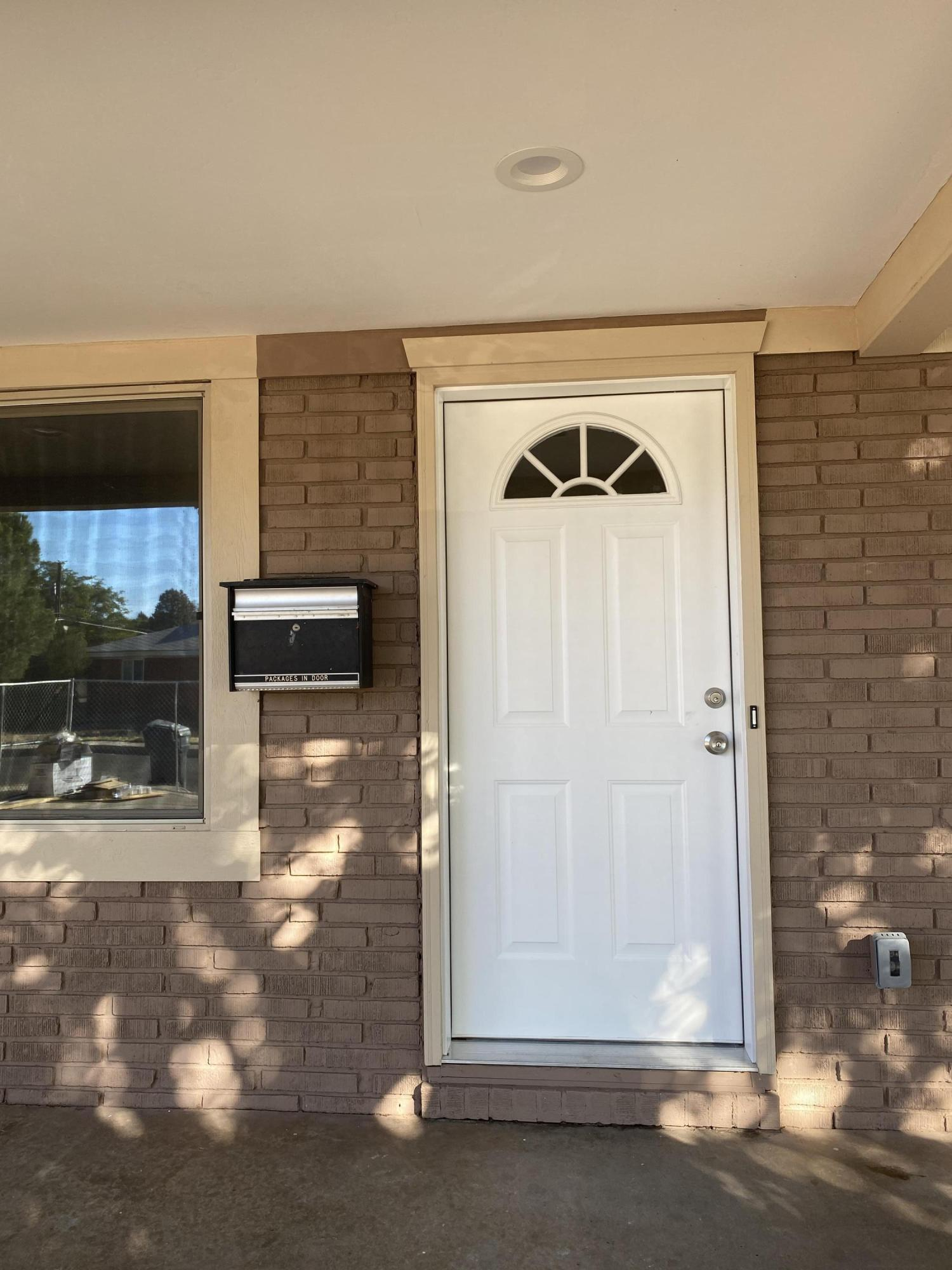 Prestine remodel. New roof and new Combo refrigerated AC and Heater. New water heater. New paint and laminated floors. Move-in ready. Updated bathrooms and kitchen. New stainless steel appliances. Close to KAFB. No seller disclosure. Will provide list of improvements
