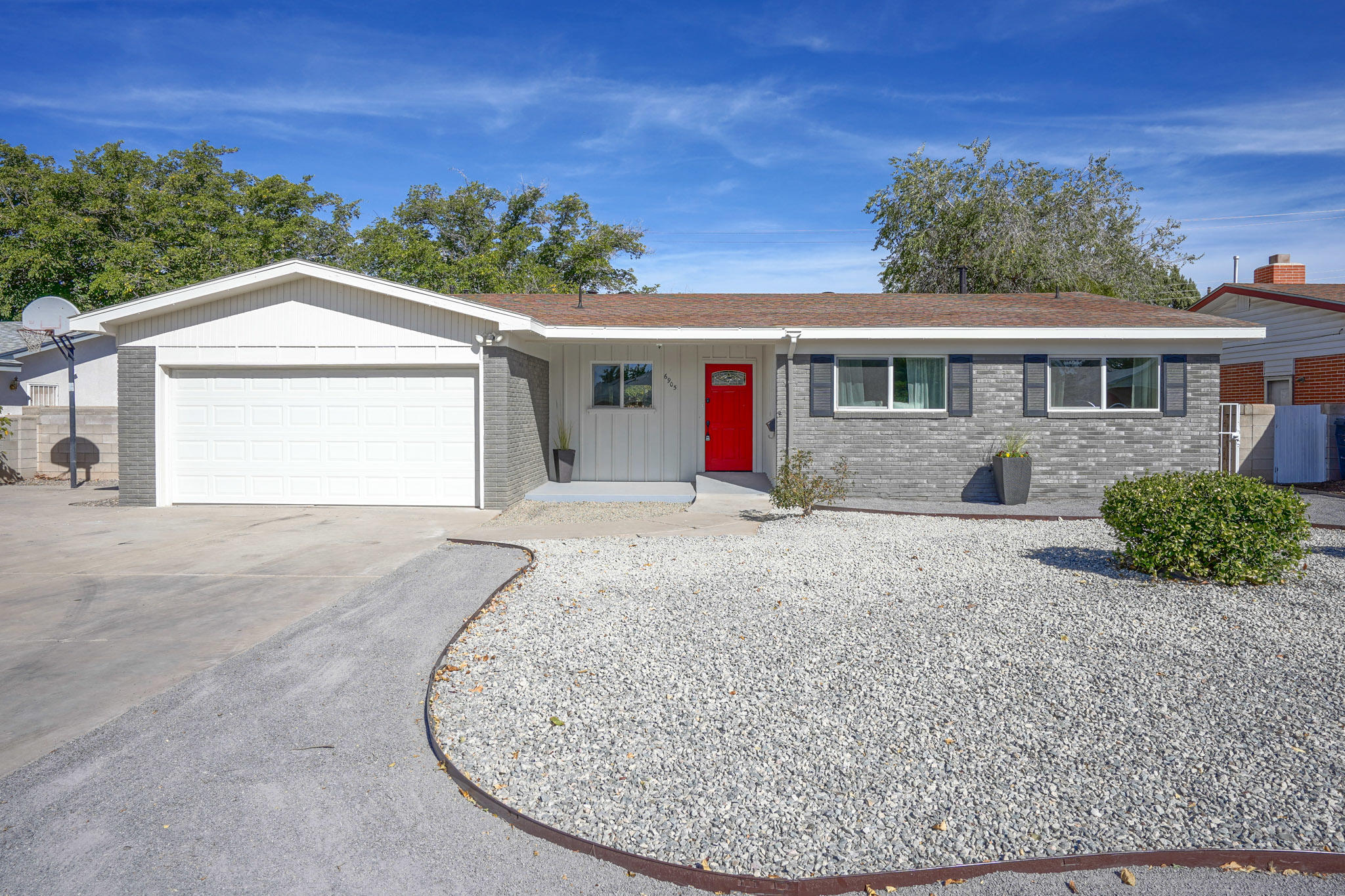 Check out this new and improved remodeled 4 bedroom/2 living room/open concept single-story with  new refrigerated air.  New cabinets, granite, SS appliances, luxury vinyl flooring (no carpet), remodeled from end-to-end. Large lot with side yard access and RV concrete pad with extra large 2 car garage and workshop.  Schedule your showing today to see this lovely one before it goes!