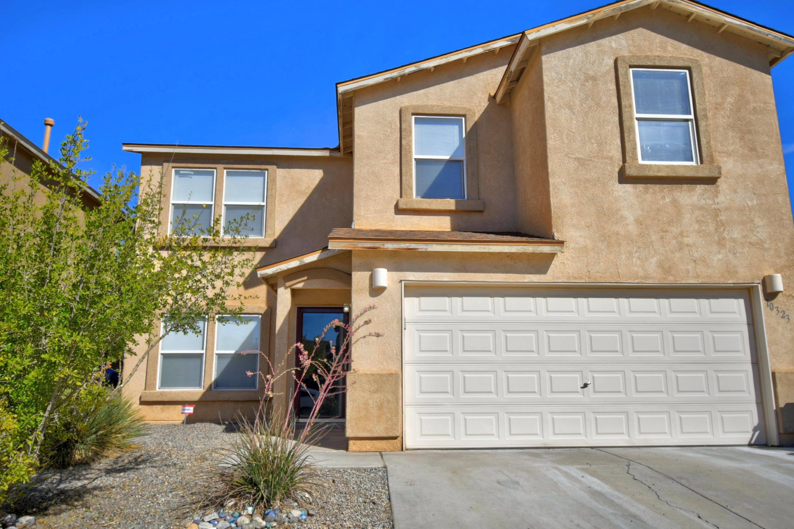 4 bedrooms with fresh paint and brand new diagonal cut tile downstairs! Open and flowing floorpan with huge rooms, walk-in closests, updated light fixtures/ceiling fans and refrigerated air!! Huge master suite, with double sinks, garden tub and separate shower!