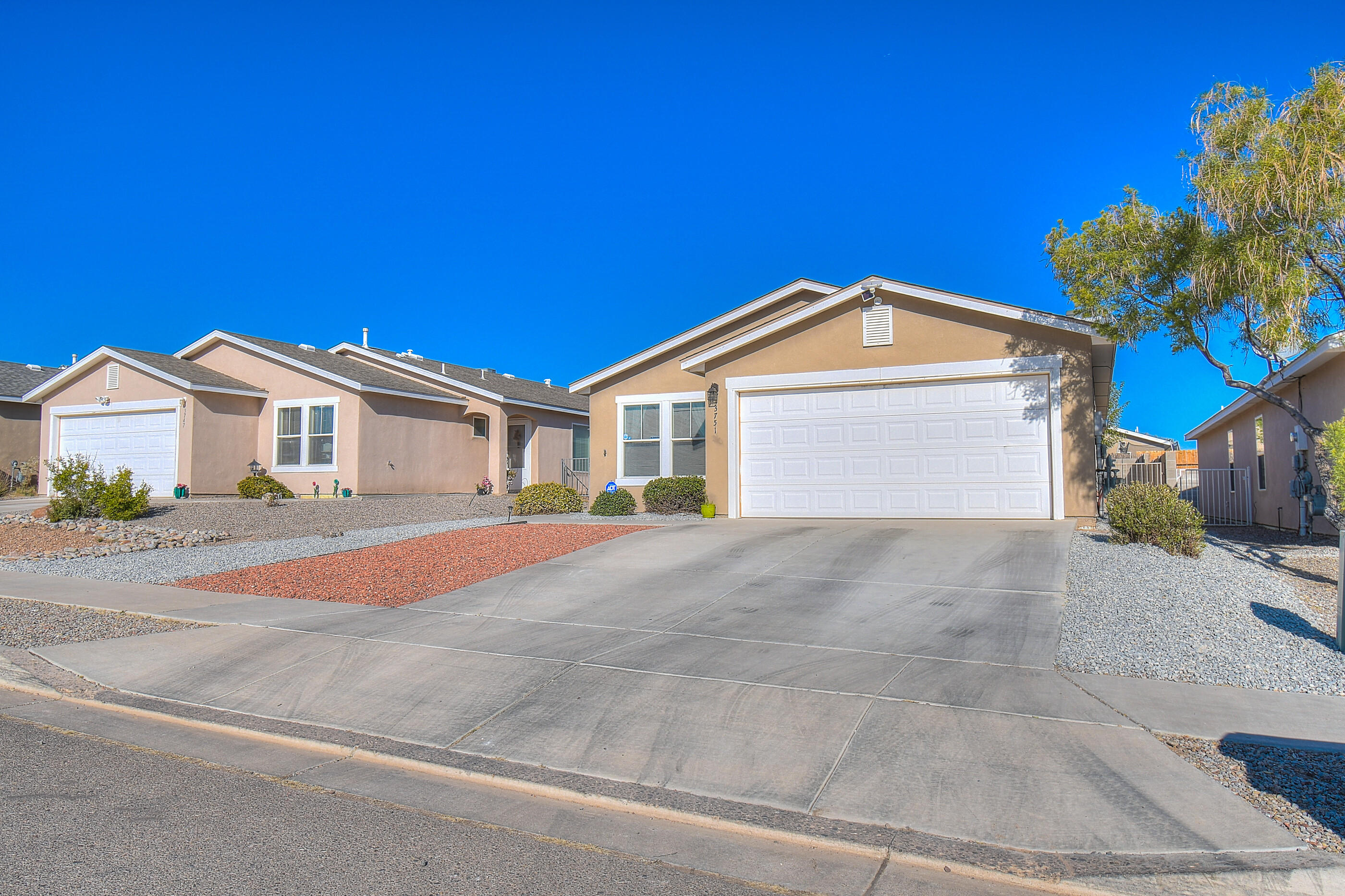 Gorgeous home in the heart of Rio Rancho.  This four bedroom stunner has it all with a new 2019 roof, 2020 water heater, 2020 stove, and both a new A/C and furnace just installed in 2018.  The garage also features insulation, cabinets, and a work bench for great DIY projects. The open and spacious floorplan includes a lustrous kitchen with kitchen island, pantry, and breakfast bar that opens up to the bright and large great room.  The master bedroom is tucked away for privacy with two closets and a great view of the backyard.  The other bedrooms are spacious and perfect for relaxing.    Come call this beauty yours today!