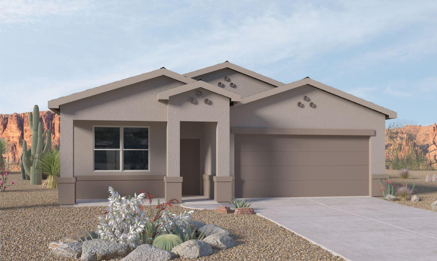 This brand new  ''SMART'' home should be completed, ready for your family to enjoy by December. Granite on kitchen counter tops and island give a lovely touch to lots of Dark Wood Cabinets that really show off the Black Whirlpool appliances. Pantry, 18 x 18 floor tile in Kitchen, baths & large laundry room. 9 foot ceilings & Blinds throughout home & a front porch! Yes, all brand NEW. The ''Pecos'' is an open floor plan with covered patio that looks out to the back yard. Has a ''flex room'' in front of home can be used as study/dining or 2nd living. Close to   schools, recreation, shopping & restaurants..  BIG CORNER LOT (photos are of previous model, similar features) Ask about our free builder upgrades and paid closing cost special