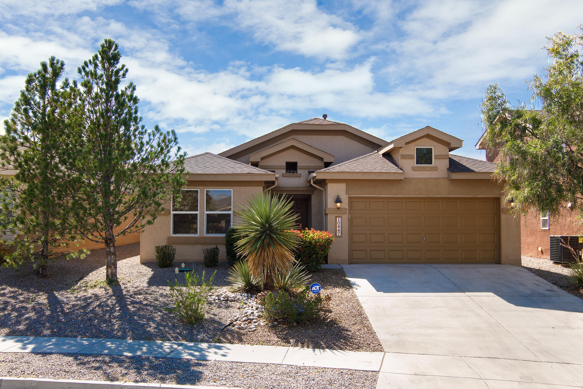 Welcome home to this beauty in Ventana Ranch! This popular Pulte floorplan boasts a lovely flowing entryway that beckons you to explore the rest of your new home! Four spacious bedrooms and two full bathrooms give ample space for the whole family. Brand new carpet and new paint throughout! You'll love the large owner's suite, complete with ensuite bath, garden tub, and separate shower, not to mention the huge walk in closet!  Stainless steel appliances and Cherry wood cabinets adorn the open concept kitchen! Great space for entertaining! Xeriscaped front and back yards help with low maintenance. Close to shopping and other conveniences, yet far enough away to enjoy the peace of the desert. Hurry, this won't last long!