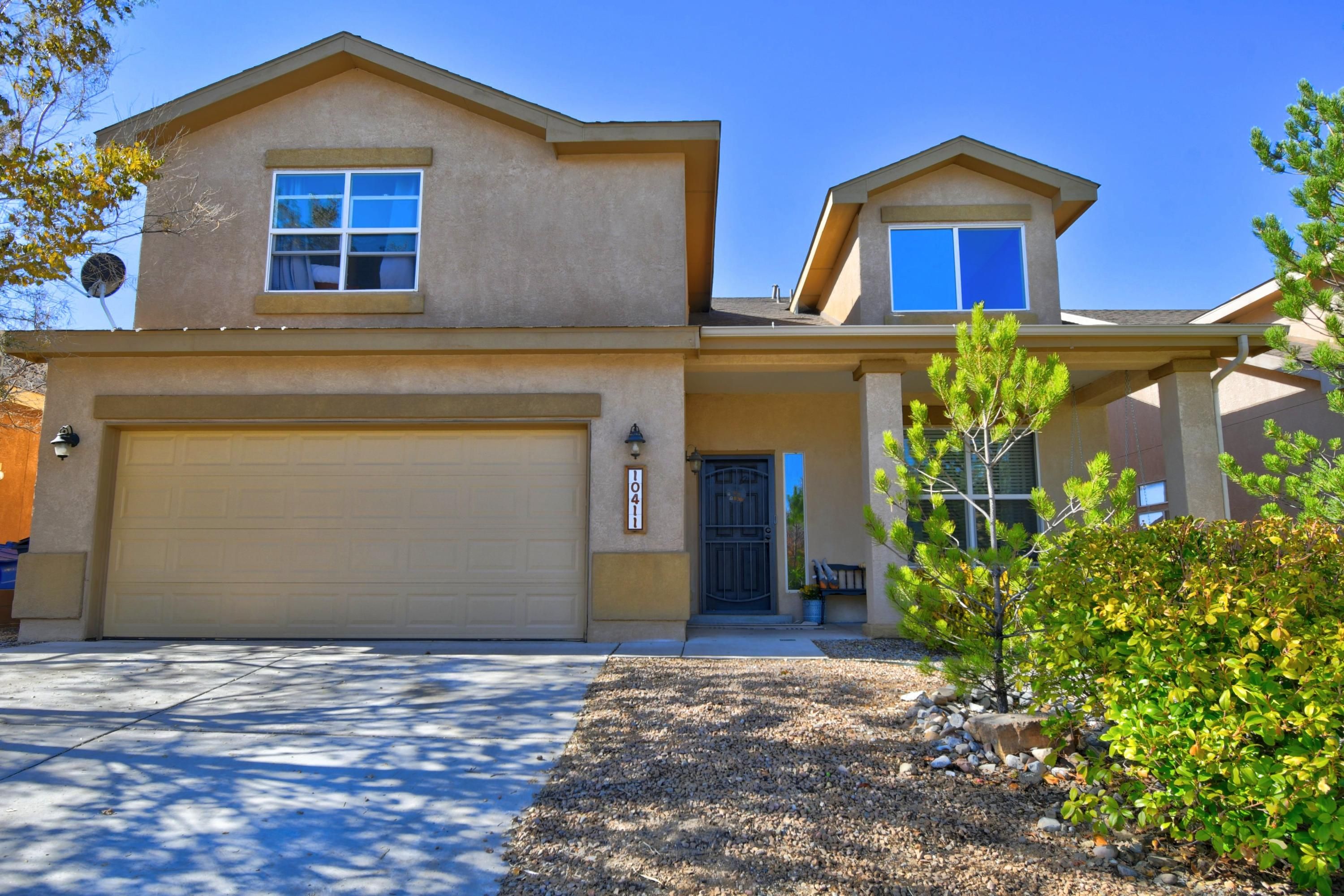 Pulte home in Ventana Ranch West. Two Living Areas plus a Loft! 3 Bedrooms, 2.5 Bathrooms, and a 2 Car Garage. Spacious Owner's Suite with an en suite bathroom and 2 closets, plus a balcony! Landscaped backyard with well maintained grass plus 2 decks and a shed! A/C unit updated July 2019. Updated Kitchen appliances - just over a year old!