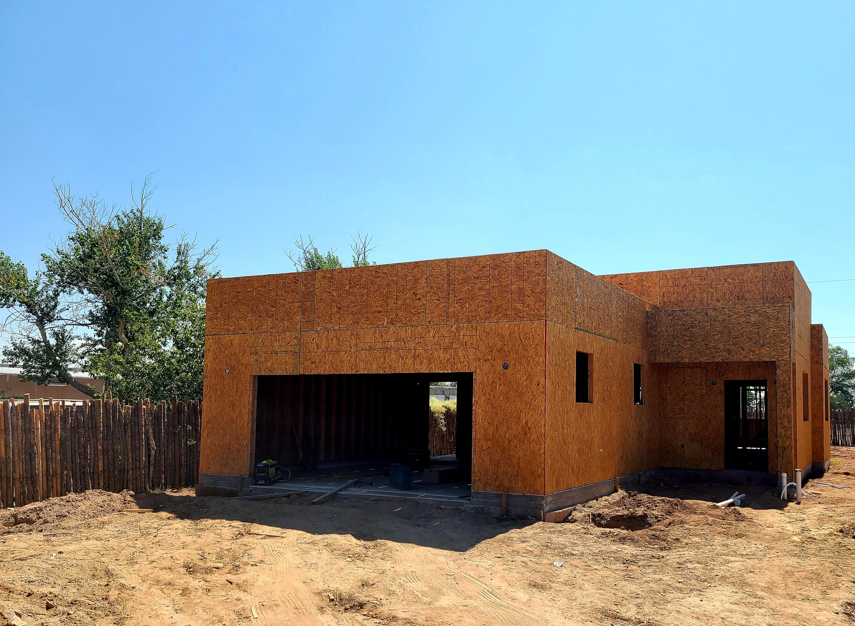 Here's your chance to own a BRAND NEW BUILD in the North Valley! 3 bedroom, 2 bathroom, 2 car garage, New Mexico style home with opportunities to customize and make it your own! PPO, flat roof, wood construction cabinets - no particle board. Granite counter tops, tile floors. 10' ceilings in common areas. Landscaped. Appliance package includes stove, fridge, dishwasher and microwave hood. *Estimated completion date is June 2021*Subject to change*