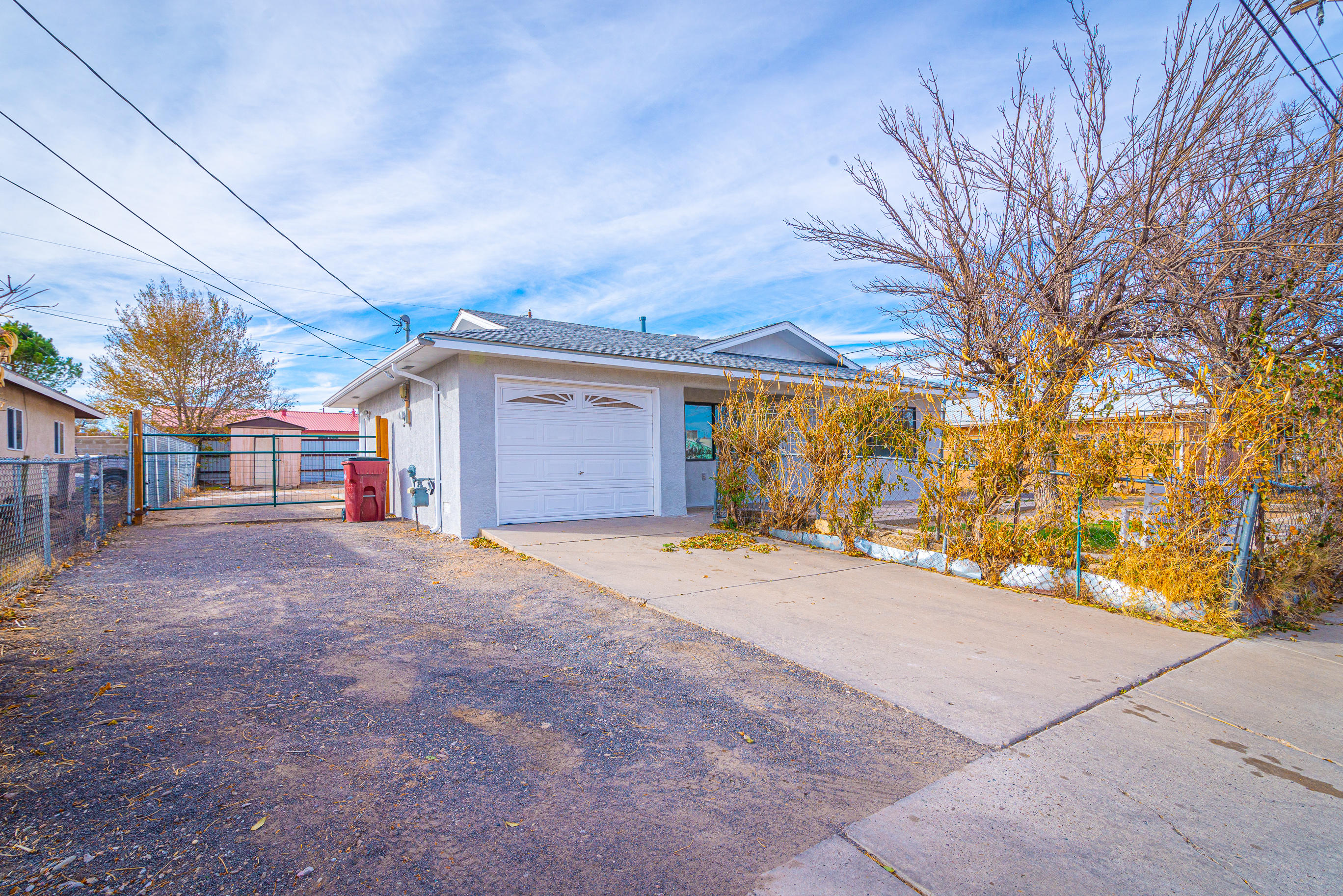 Excellent home awaits a new homeowner! Three bedroom home located in the center of Belen and conveniently close to freeway access! Larger city lot with storage shed, back yard access. Hardwood custom cabinets, stainless steel appliances, ceiling fans.  Must see!