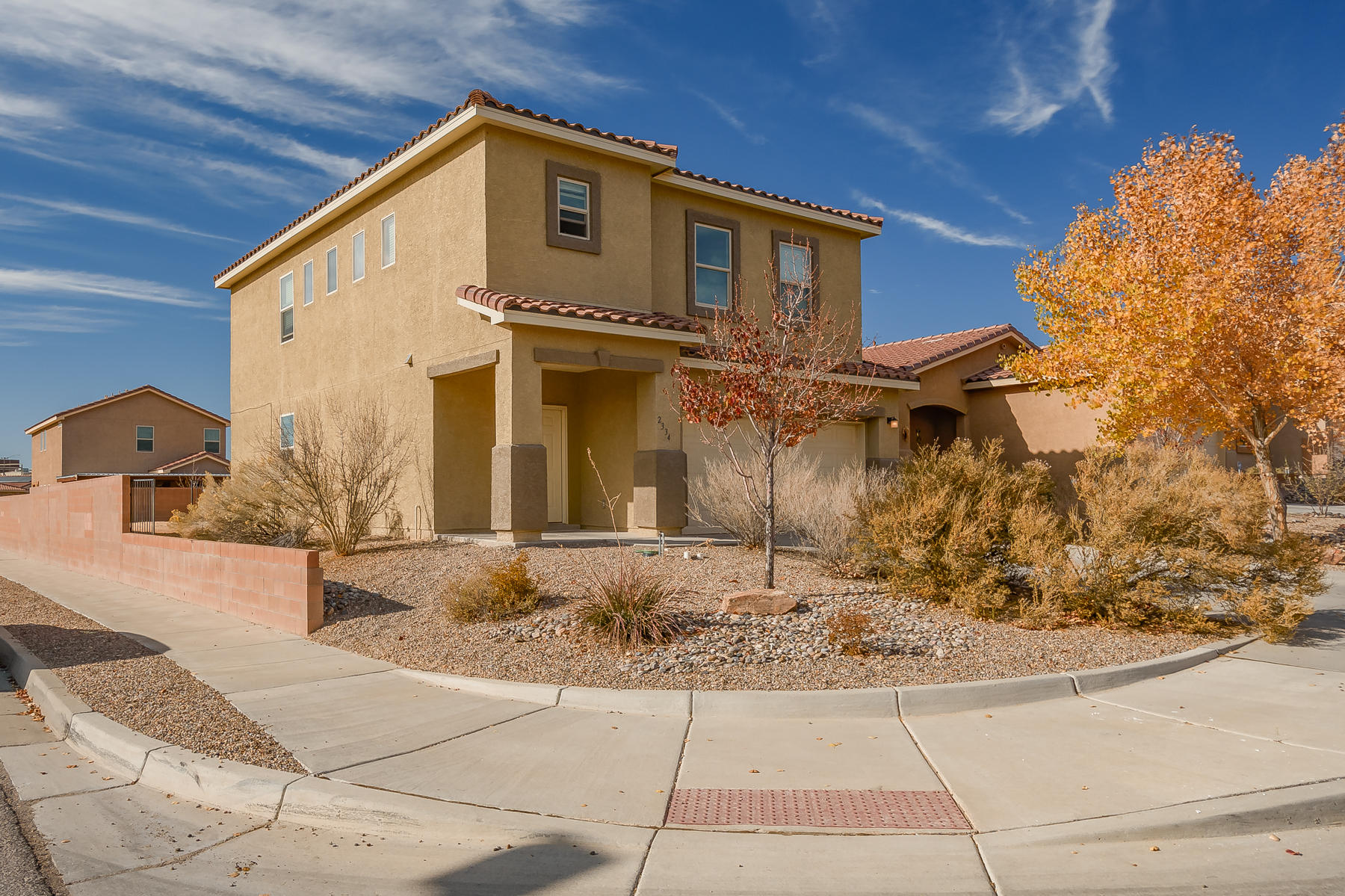 Nice home in Cabezon on a corner lot! This home features granite counter in the large, open concept kitchen. There is a breakfast nook, breakfast bar and pantry! Lots of natural light with south facing windows! Large living room, clearstory windows, recessed lighting, lots of storage throughout the home. Master suite is a nice sized, with dual closets, dual sinks, garden tub and separate shower. The seller is giving a flooring allowance for new owner to replace flooring with an acceptable offer!!