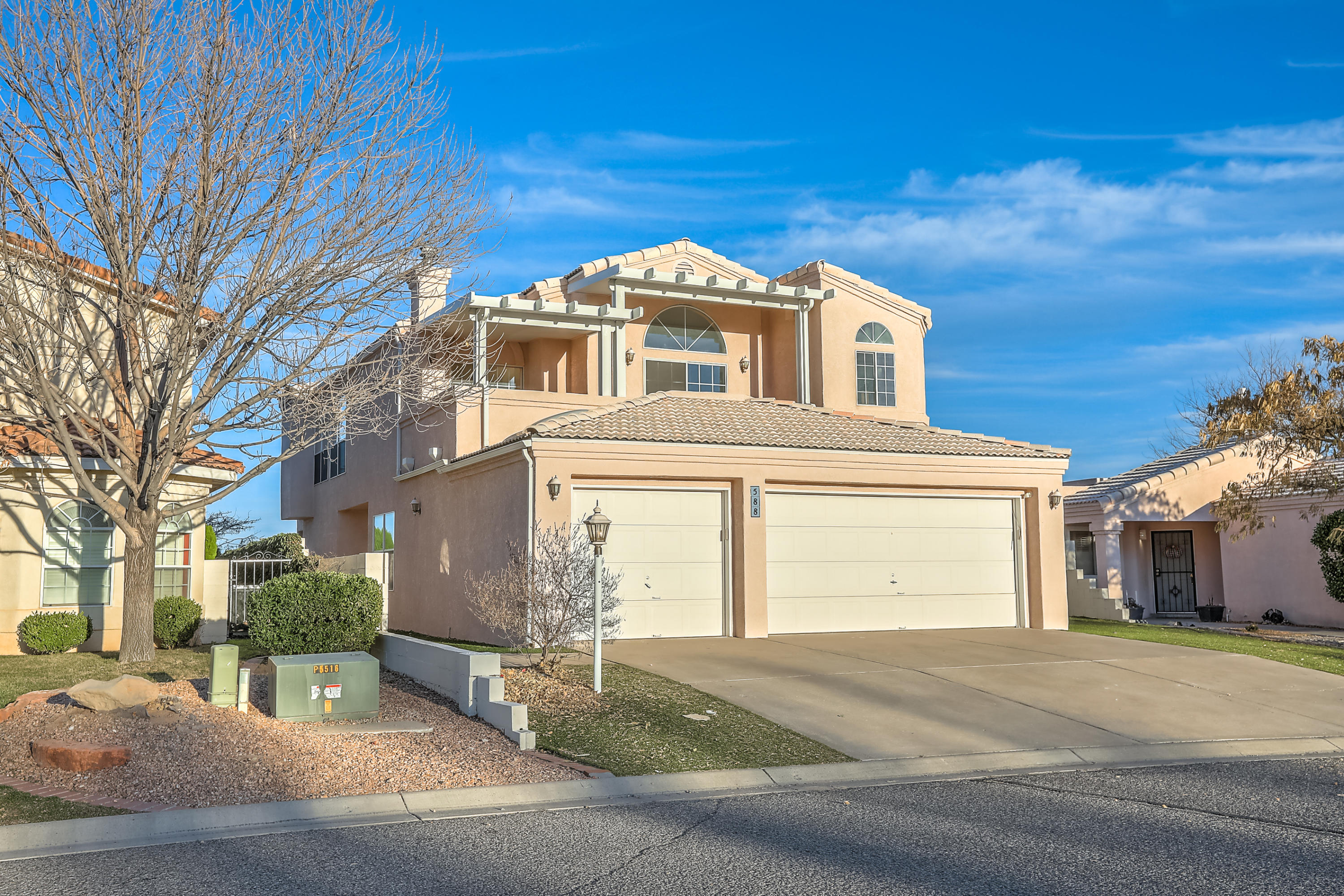 WELCOME HOME to this beautiful, light, bright property featuring a 3 car garage, multi living areas for options galore (home office, schooling, etc)  and beautiful mountain views. New kitchen oven, microwave and cooktop! Refrigerated air is a wonderful bonus. Enjoy the beautiful mountain views from the lovely outdoor patio and upstairs deck. A custom fountain, large, spacious yard and exterior living environment create extra space for all! Large owner's retreat and spacious master bath is perfect for relaxation at the end of the day. Plan to visit this one today.