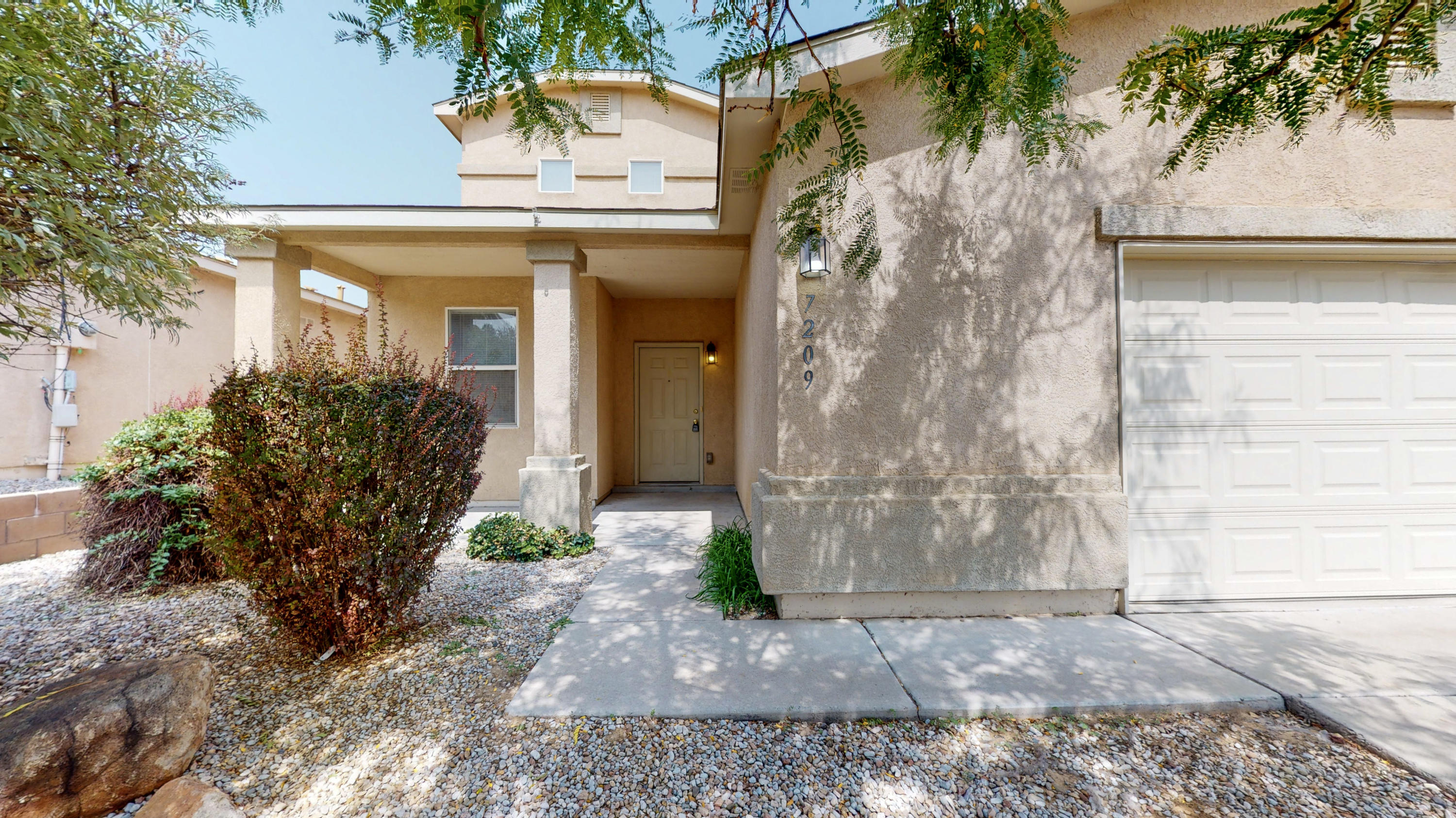 Spacious 5 bedroom, 2.5 bathroom home in NW Albuquerque just became available! Features include **2663 square feet**New carpet throughout**New Paint Throughout**Master Bedroom Downstairs**Master Bath Double Sinks & Separate Tub/Shower**Secondary Bath Double Sinks**Open Floorplan**Walk in Closets in ALL Bedrooms**Refrigerated Air**Oversized 2.5 Garage for extra storage**Nice sized yard**Conveniently located near parks, shopping, and schools**