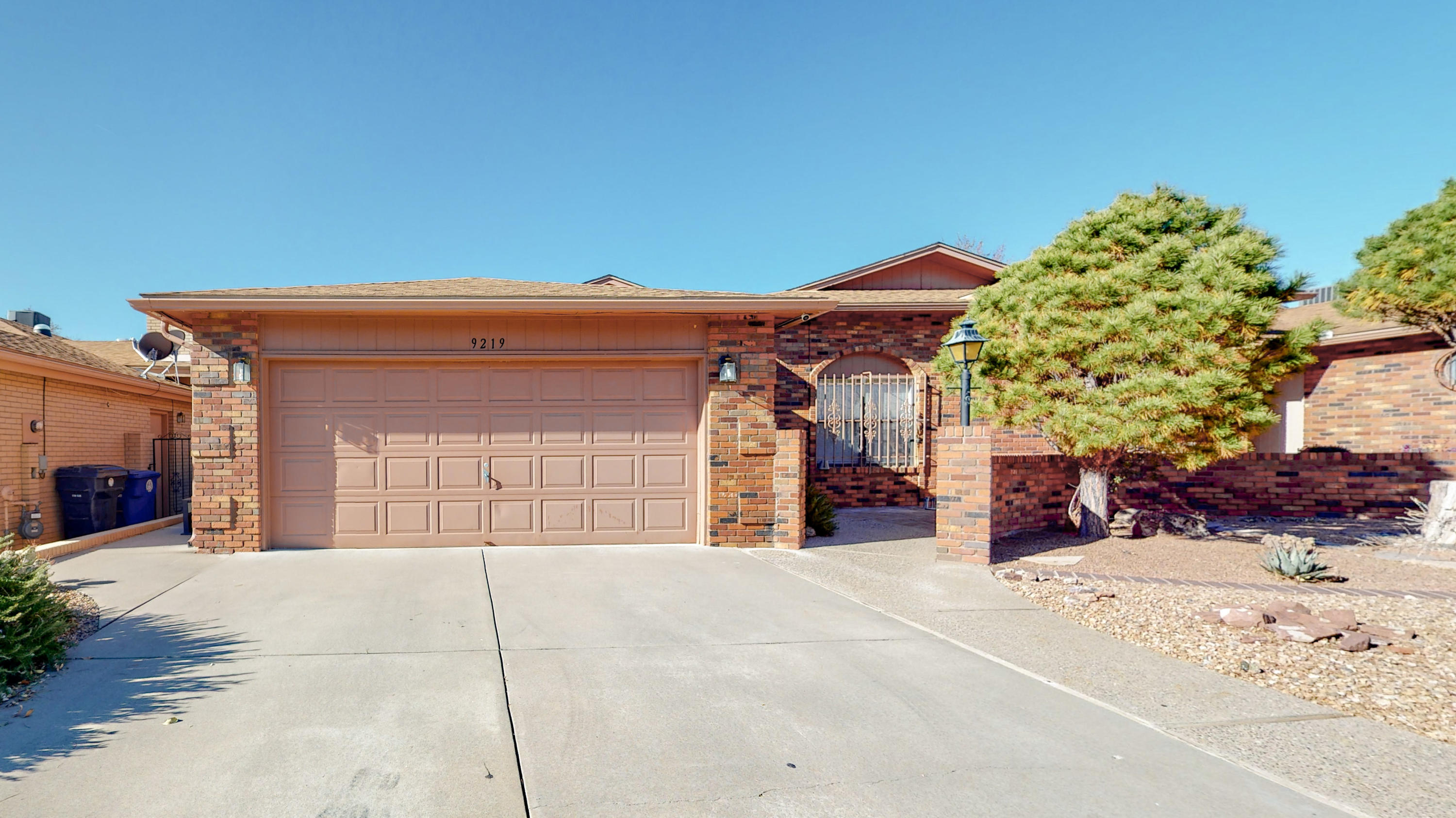 Welcome Home!  Highly sought after townhome in extremely desirable Academy Hills! This low maintenance townhome will WOW you with lots of great features! 2 large bedrooms plus a possible 3rd bedroom or study! Beautiful mountain view, tile foyer, large great room and formal dining with raised vaulted ceiling and fireplace!  Big eat-in kitchen with tile floors has been recently remodeled with granite countertops and new appliances!  Oversized owner's suite with double sinks and two large closets.  New roof installed in 2018, REFRIGERATED AIR, low maintenance yards with brick inlay courtyard and newly tiled back patio!   Immaculate and proudly maintained!