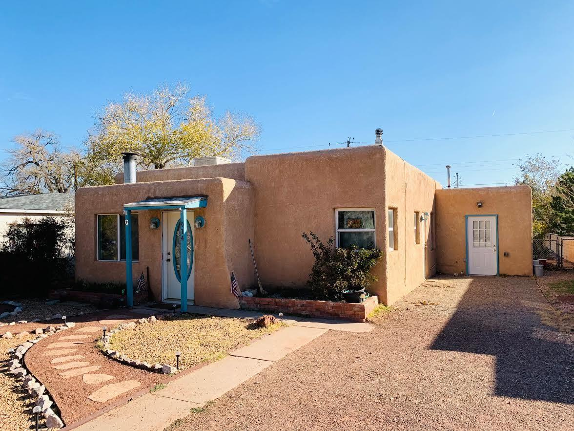 INVESTORS!!   Add this one to your portfolio!  Desirable Ridgecrest/Parkland Hills location.  This home has a renter with a contract until June of 2022.3 BD/ 1 BA home with a huge laundry /utility room, large backyard, and a 2 year old roof with transferable warranty.  Bathroom redone and upgraded recently.  Upgraded electrical, thermal windows. Wood stove, all appliances stay with home!   So close to UNM, Nob Hill. the VA Hospital, Kirtland AFB, much more! Easy care landscaping, established neighborhood.Laser floor plan included in documents. Brokers please read LO/SO remarks before scheduling.
