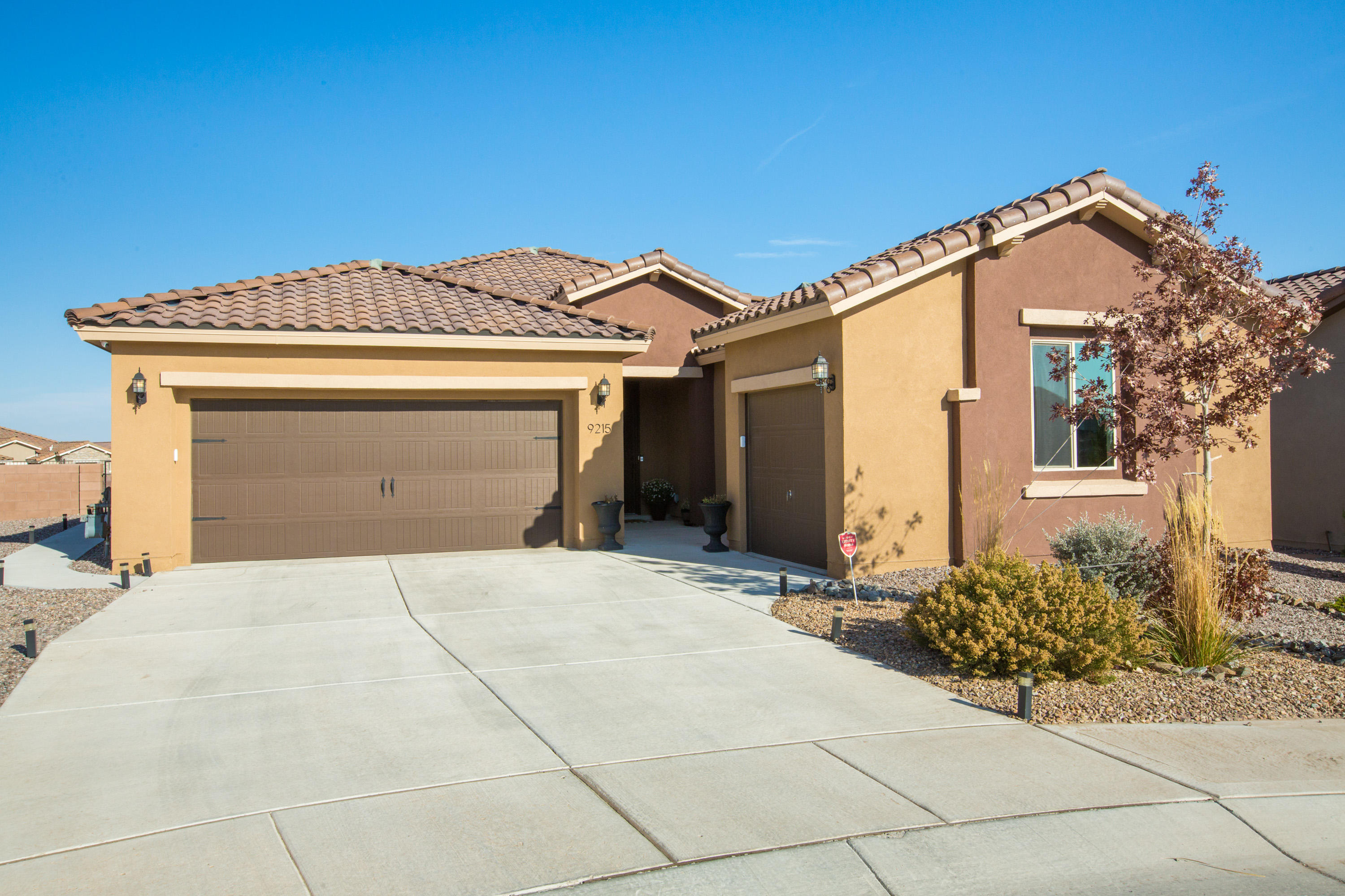 Gorgeous single story Pulte home located on a  large lot w/ with unobstructed views in the Mirehaven community! Home features 2,665sf with 4 bedrooms, 3.5 bathrooms, an office and 3 car garage! Gourmet kitchen with upgraded white cabinetry, gray quartz countertops, subway tile backsplash, built-in oven/microwave, gas cook-top, range hood, pantry and a large island with seating space for everyone! Separate family dining space. Beautiful living area with a fireplace and double slider showcasing the stunning views! Owners suite with tray ceiling and a private spa-like bath. Bath hosts dual sinks, a relaxing garden tub, walk-in shower & closet w/ built-in shelving. Double doors separate the office for privacy! Amazing backyard, full walled w/ a built-in fireplace! Just steps from Mirehaven par