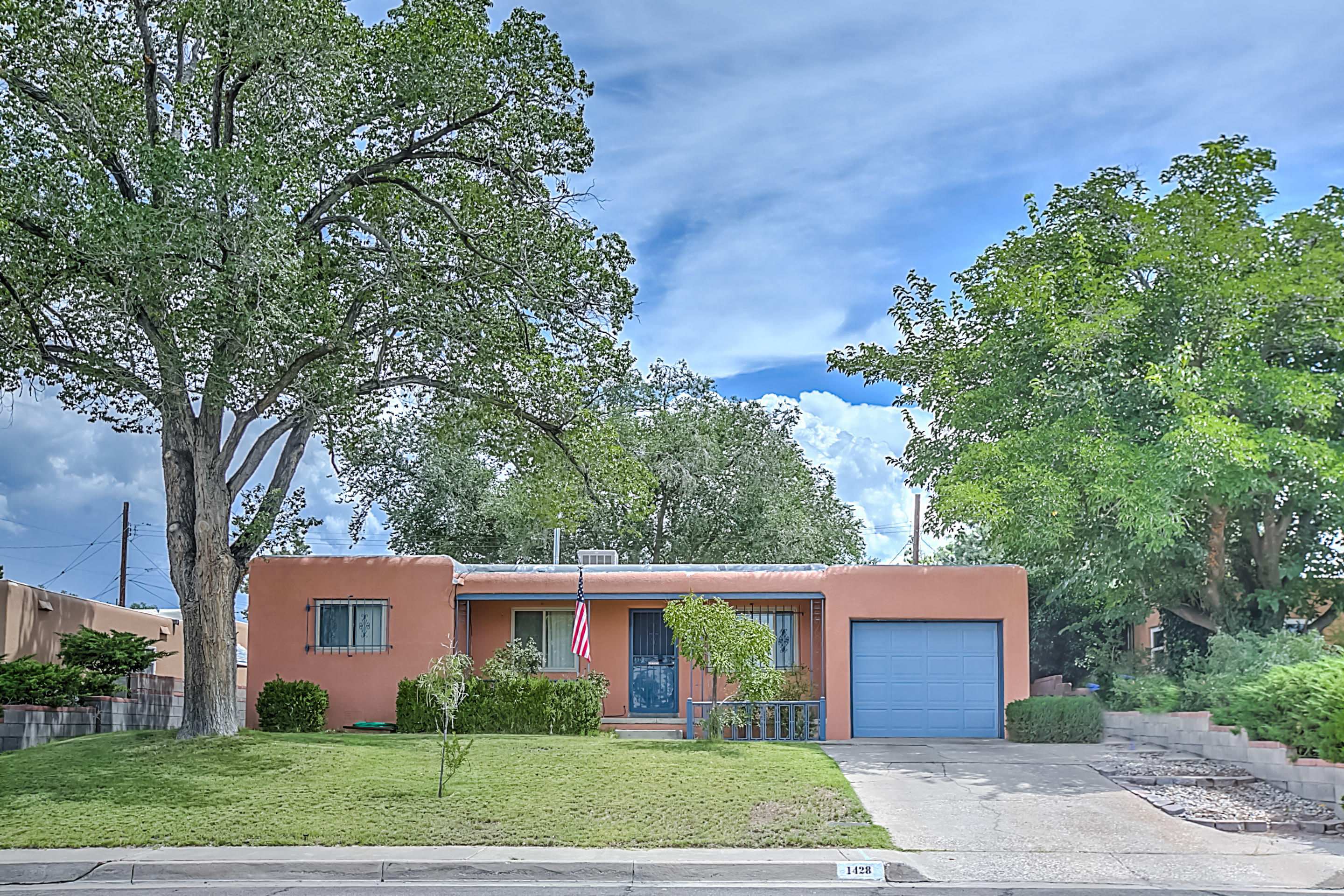Take a look at this beautifully maintained home near Altura Park and UNM. This home has freshly painted exterior, original hardwood floors, spacious add-on with a fireplace, and a large back yard. With two living areas and an open kitchen, this is a great place for entertaining family and guests. Situated close to Nob Hill, Local Shops, and freeway access, this home is centrally located and ready to go!