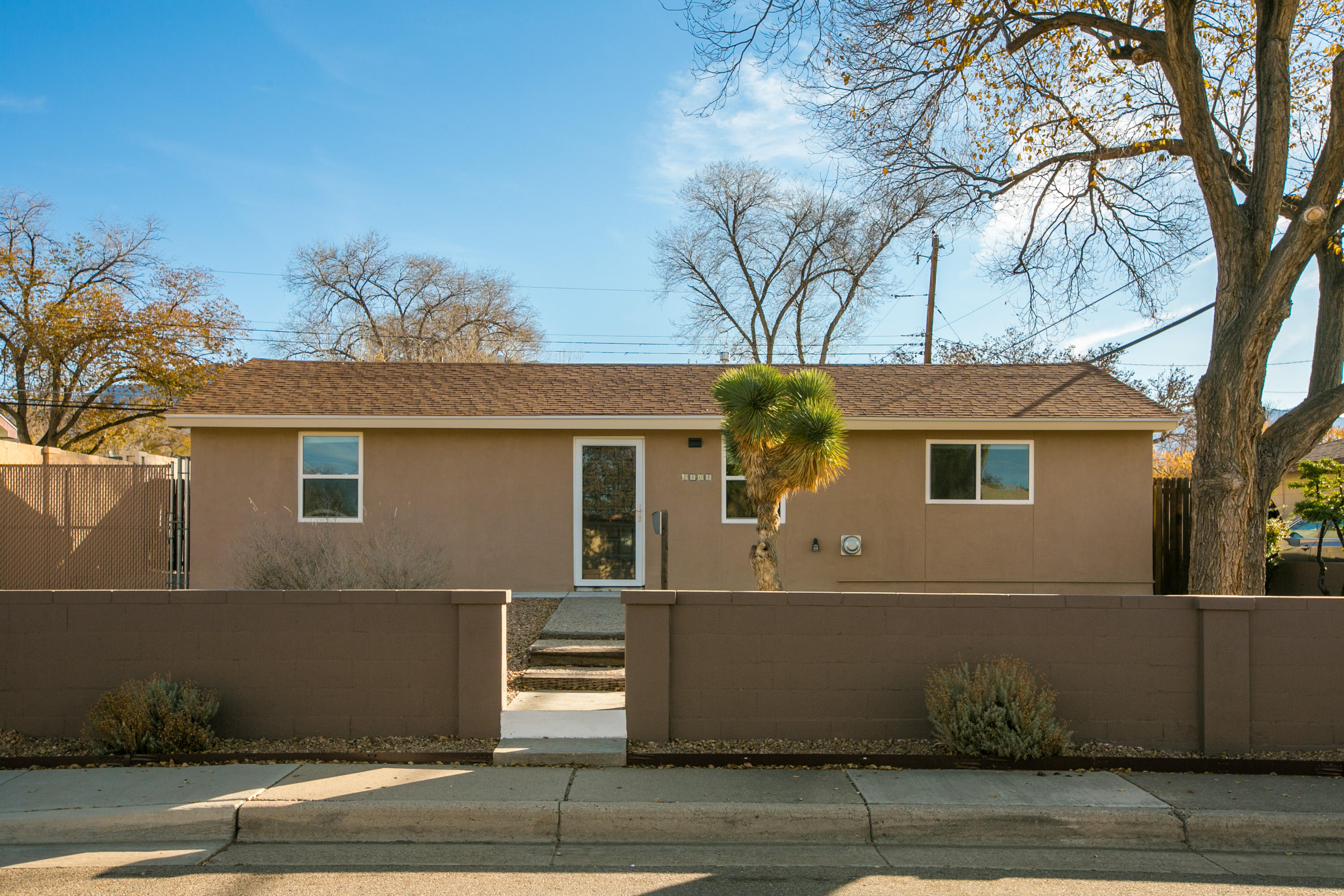 This 2 bedroom home is loaded with updates, including newer roof, heater, new windows, recent concrete patio front and back, new stucco coating, new 200amp electrical upgrade, and much more. Great zeroscape yard, gate on north side for car access or RV parking.