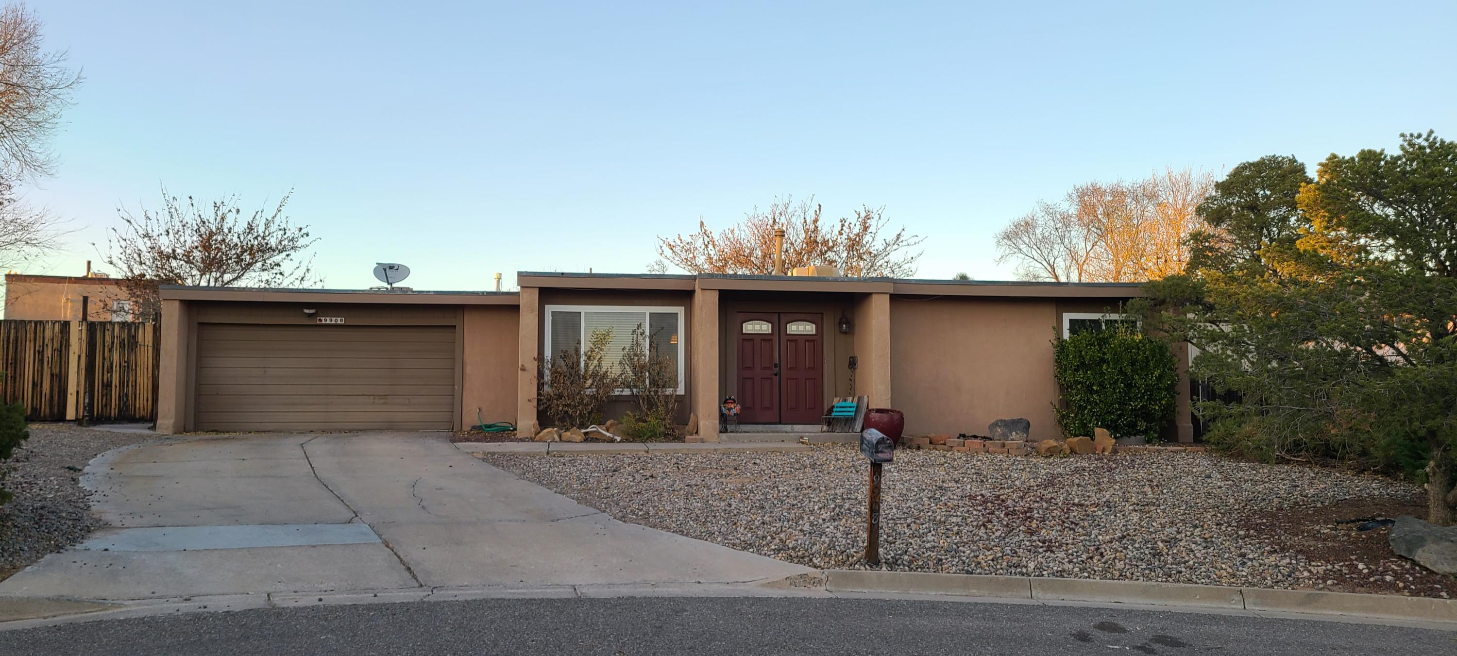 Wonderful 3 Bedroom/2 Bath Home with an Office (possible 4th bedroom) in a cul-de-sac.  2 Car Garage.  Open Kitchen. Large Back Yard with a  Fireplace on the cozy Covered Patio.  Detached Insulated/Carpeted 12'x20' (240sf) bonus space (shed).  2nd 10'x10' storage shed as well.