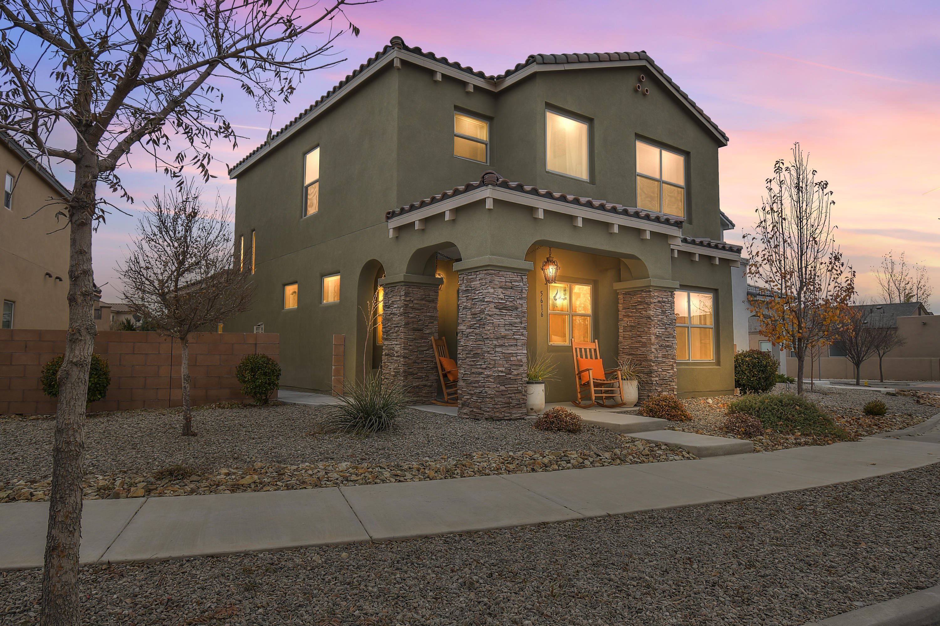 Immaculate!  Modern floorplan with popular grey/white color scheme.  With Plenty of upgrades including cabinetry with contemporary style hardware, plank tile floors, stainless steel appliances.  Beautiful master suite with Spa like master bath.  Plenty of room to entertain and enjoy the fully professionally landscaped back yard.