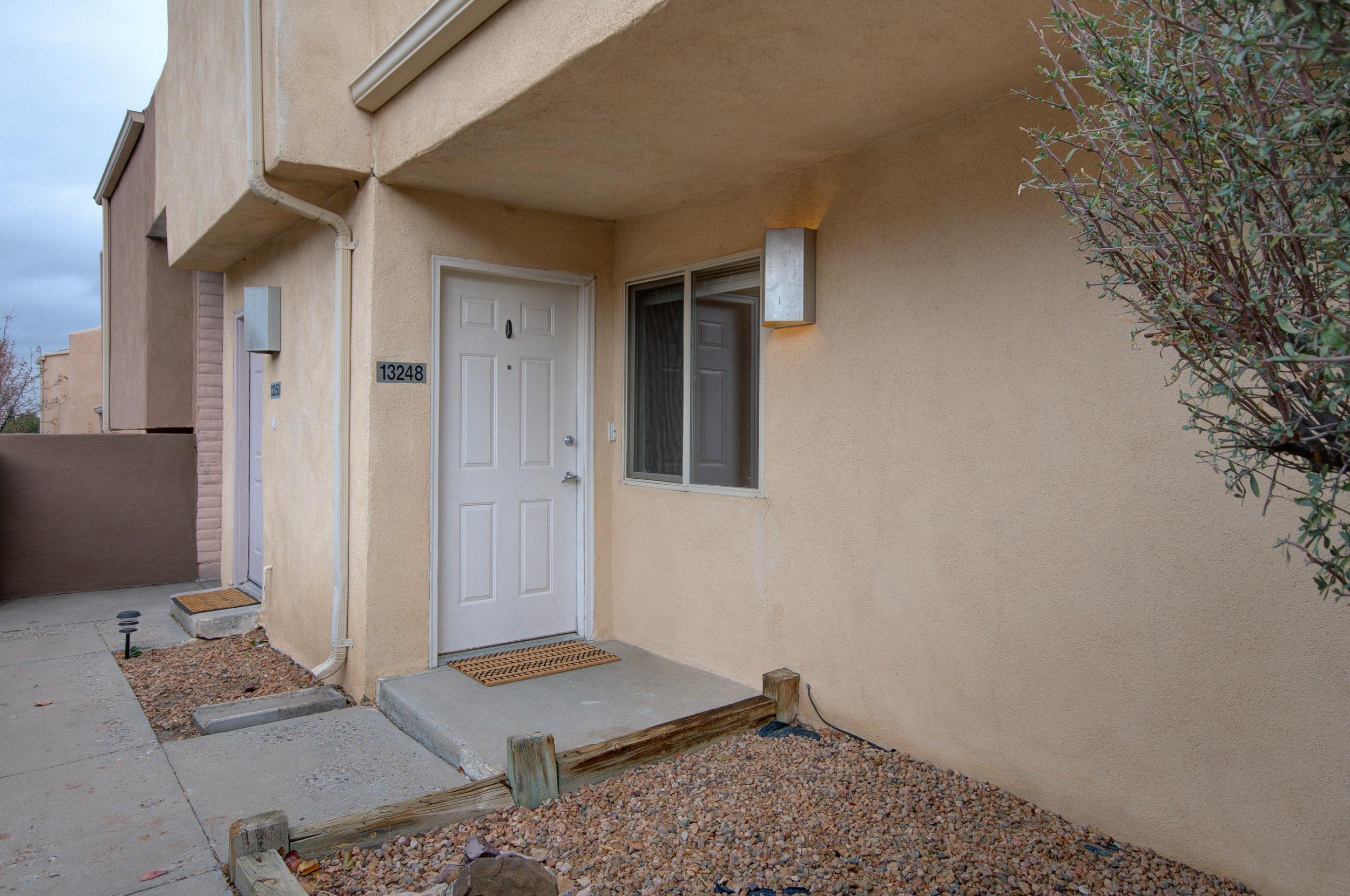 Ground level Condo is squeaky clean and well cared for.  MOVE IN READY! New Carpet, paint, Dishwasher. 40 Gal Hot Water Heater replaced in 2017. Stacked Washer/Dryer Combo in unit. Maple Cabinets installed 2005. Refrigerated A/C. Highly sought after Foothills, is very close to hiking and biking trails, parks and amenities.  Covered Carport.  HOA covers Bldg Insurance, Water, Sewer.
