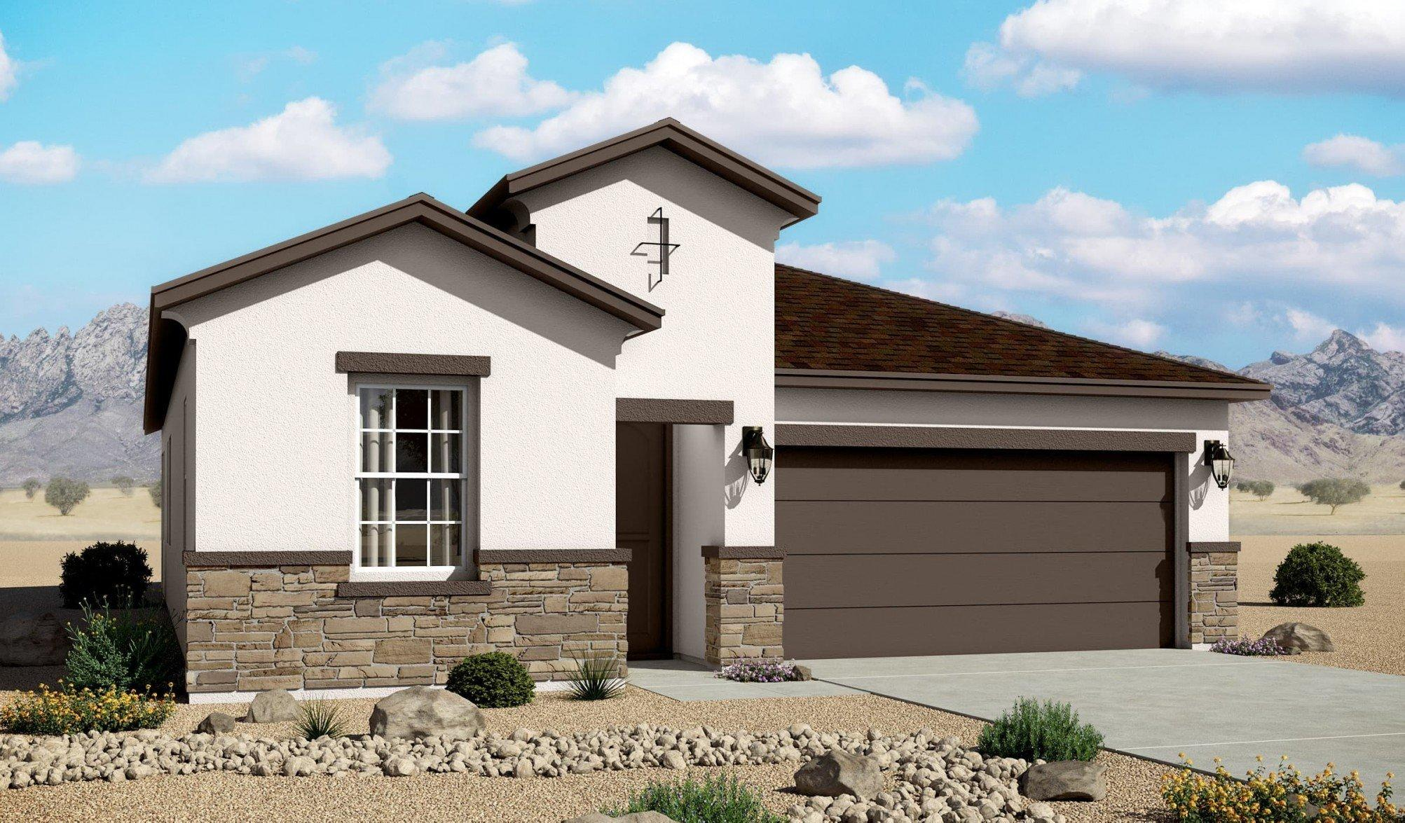 Estimated Completion January 2021 - NEW 1752 sqft home in Valle Prado features a stunning Gourmet Kitchen, upgraded 8' doors, NM green built, upgraded floor tile, beautiful backsplash, and the latest innovation in home building. This immaculate Hakes Brothers home has 4 bedrooms and 2 bathrooms. Come and see the place you'll call home. Call today to see the model home!