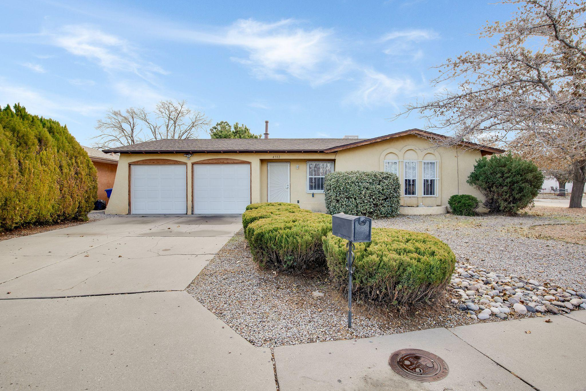 Charming home centrally located in the Del Norte district in NE Albuquerque!  If you're looking for convenience in the city, look no further as this 3 bedroom and 2 bathroom home has much to offer.      The larger corner lot has backyard access that lends itself well for your creative ideas.  The home is ready to be enjoyed by its new homeowner!  Don't delay, view today!