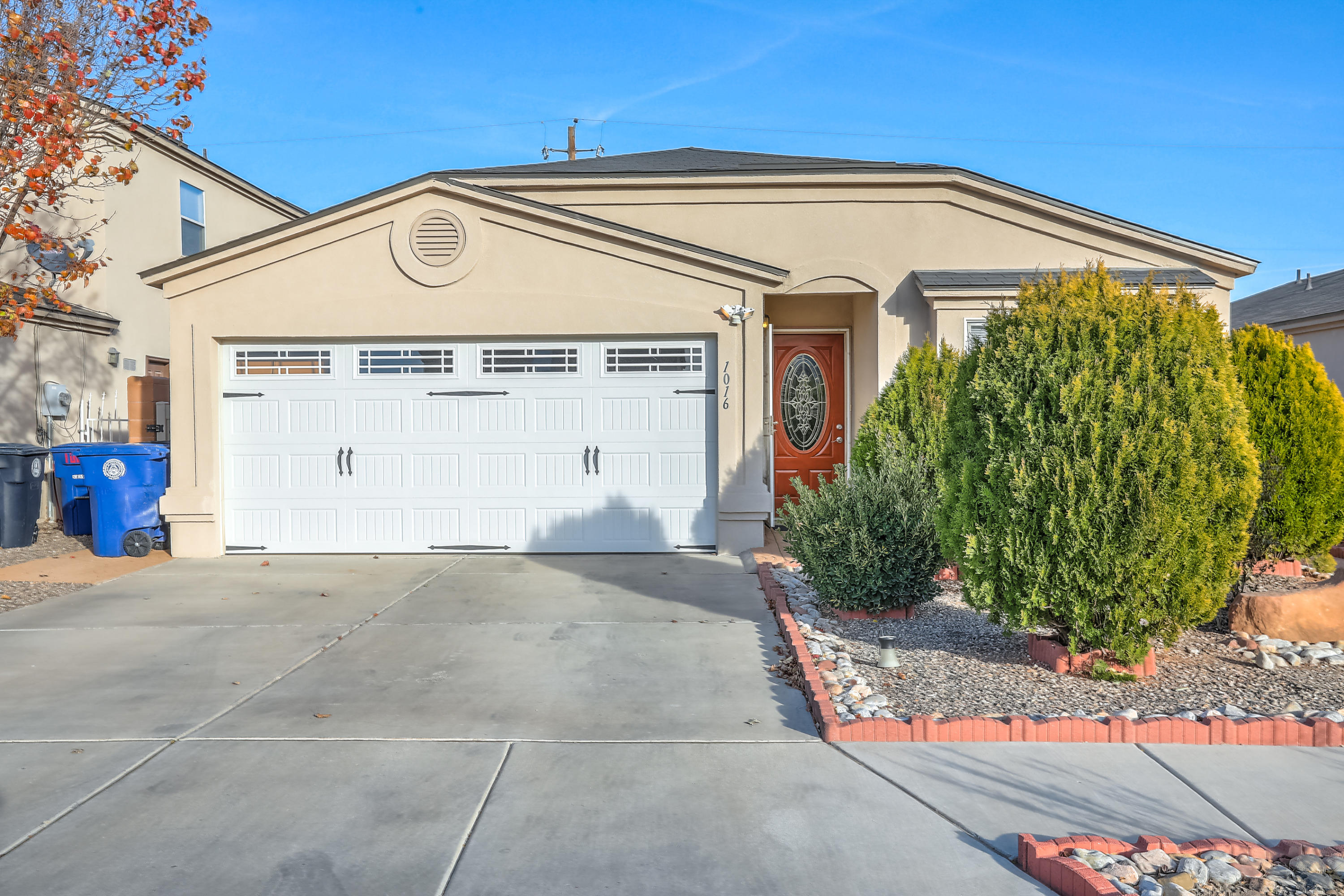 What Great curb appeal!  Open the ''decorator'' front door to view this 1 owner beautiful home. It has a great room, an open kitchen w/a peninsula, a Master bedroom suite, & 2 other bedrooms, plus an additional  bath.   There's NO CARPET! It was remodeled with neutral floor tile throughout the house, new ceiling fans & new interior doors! Wait until you see the spacious two-car garage complete w/a beautiful new garage door! Instead of ''weeding'' yards, you'll be sitting, sipping a cold drink because this home is landscaped w/patio stones on both sides of house & back yard.  The  Landscaped front features mature trees.  There is easy access to schools, shopping, restaurants, and I-40.  Don't ''Walk'', ''Run'' to make your offer! You could be enjoying your new home within 45 days!