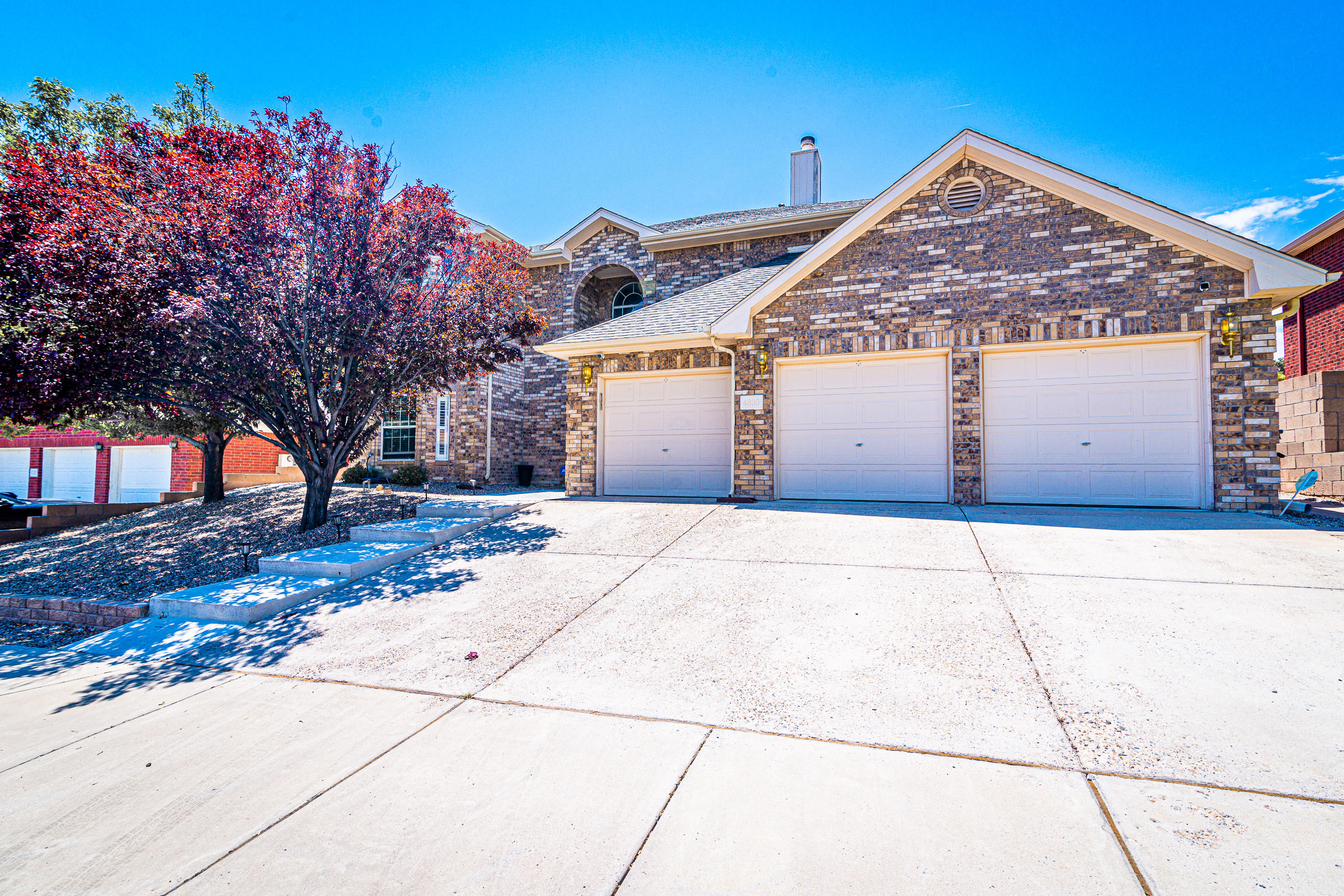 This is a must see Oppel Jenkins Brick Beauty in the NW. Soaring ceilings in the formal living area with arch leading for formal dining room. Cozy up next to the gas fireplace in the family room which has a beautiful modern neutral color on the walls. Kitchen has been updated with new tile, which highlight the clean bright cabinets & center island. Bedroom downstairs perfect for guest with a full bath. Bay windows in 2 of the secondary bedrooms add that extra wall space you need. Master suite has crown molding accents and access to balcony. Master bath is spacious with 2 vanities, garden tub, standing shower and walk in closet. All this and an office/hobby/den area upstairs. Backyard features a wrap around covered patio.