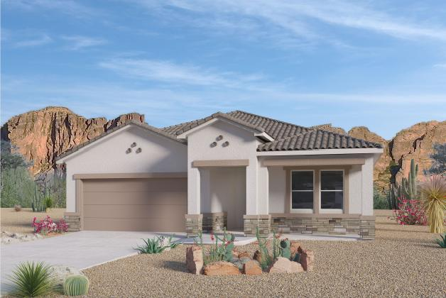 Beautiful NEW HOME in the Volterra IV community in SE ABQ! This never lived-in home is CURRENTLY BEING BUILT. Our incredible 1-story ''Everest'' model offers a bright and open kitchen / living area. Besides plenty of standard features like granite kitchen counter top and tile flooring, the GAS STUB AT THE PATIO AND FRAMELESS GLASS WALK IN SHOWER will make your home stand out! Primary bedroom is secluded from the remaining three bedrooms to guarantee privacy, after a family dinner on your own covered outdoor patio. Home comes with Window Blinds and Remote Garage Door Opener.
