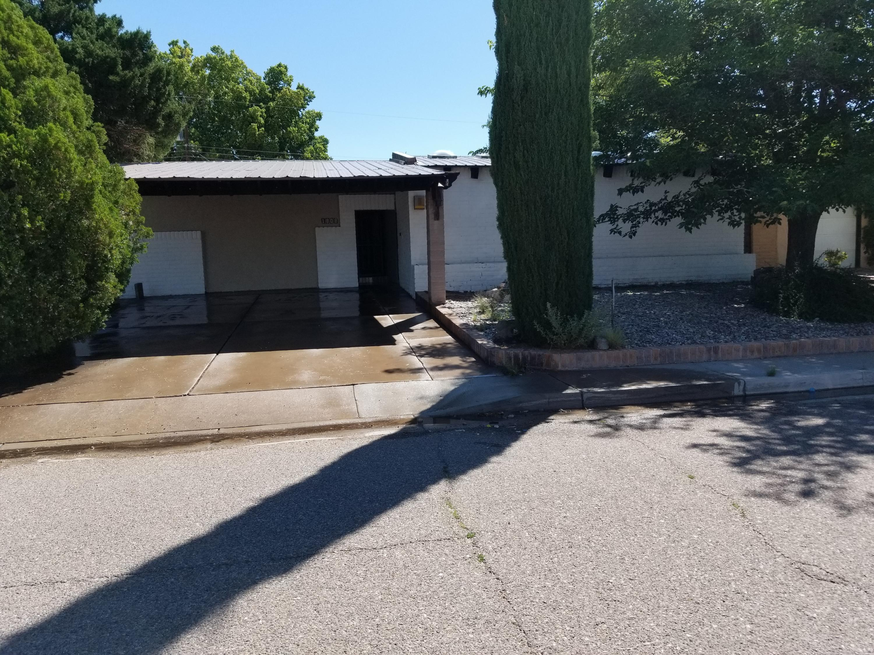 Newly remodeled home with new flooring, Kitchen , Bathrooms , paint inside, Windows, Doors and HVAC heating cooling system. This home has 2 spacious living areas both with wood burning fireplaces. Nice SW feel to this house but with a modern touch. Large front and back yard are a great addition to this home.  This house is ready for you to make it yours!