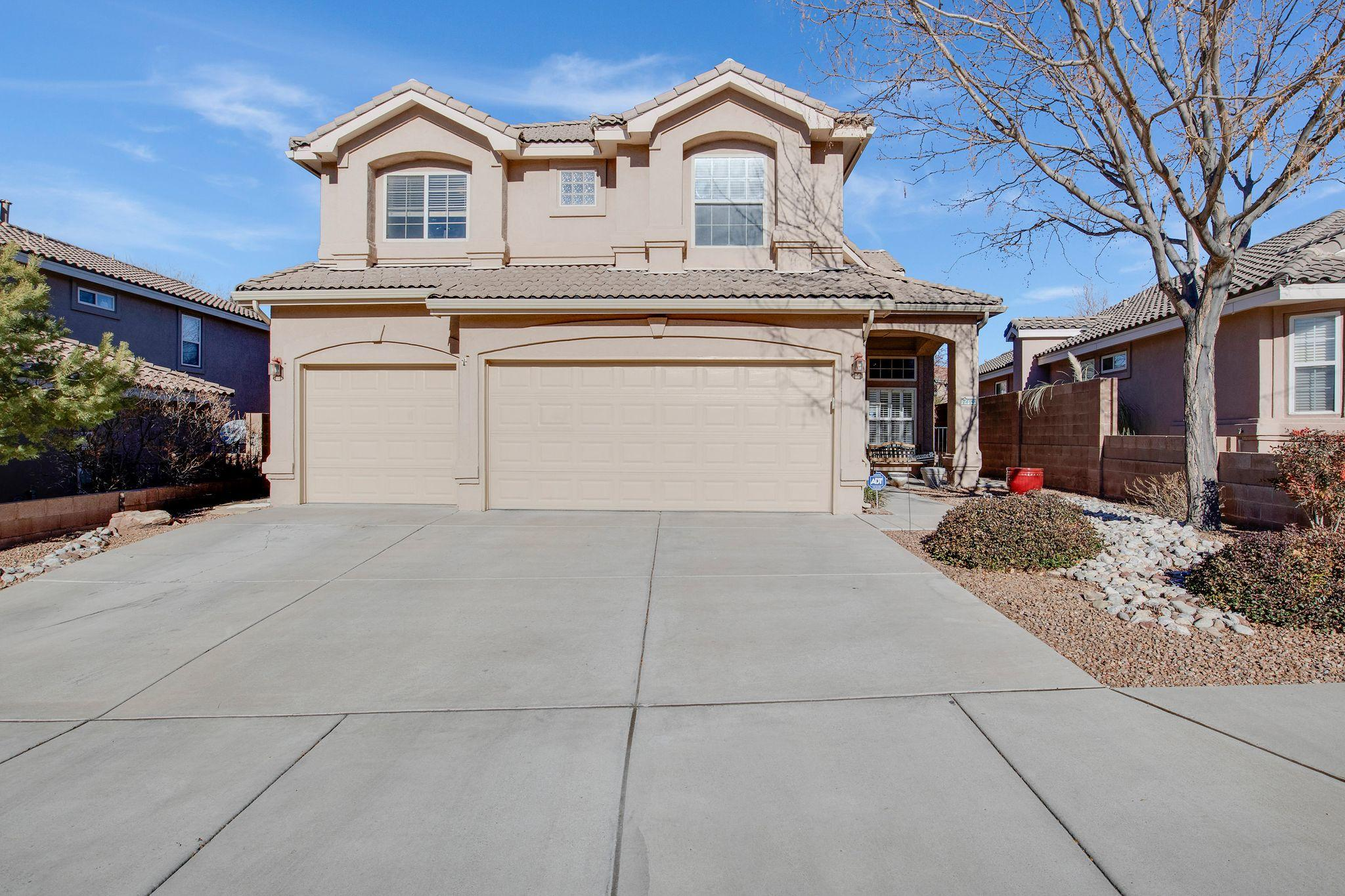 Great Location! Hard to find 5 Bedroom, 3 Bath, 3 Car Garage, One-owner home in Desert Ridge Trails! Upgrades throughout! Two Downstairs living areas, Coffered 9' Ceilings, Kiva fireplace, Engineered hard wood floors, Plantation Shutters, Custom paint. Eat-in Kitchen, stainless steel appliances, granite, oversized sink, pantry & breakfast bar. Downstairs bedroom & 3/4 bath. Enormous Master Bedroom with Views from Balcony, Seating area, 6' Jetted Tub, Separate Shower, Newer Tile, Dbl Sinks, Walk-in Closet. Three additional large bedrooms plus full bath, small loft area & laundry upstairs. Don't miss the backyard's Pergola, water feature, Aspen trees with flower garden, Cherry tree, lighting, grass with sprinklers, cobblestone seating & much more! Close to a beautiful park & great schools!