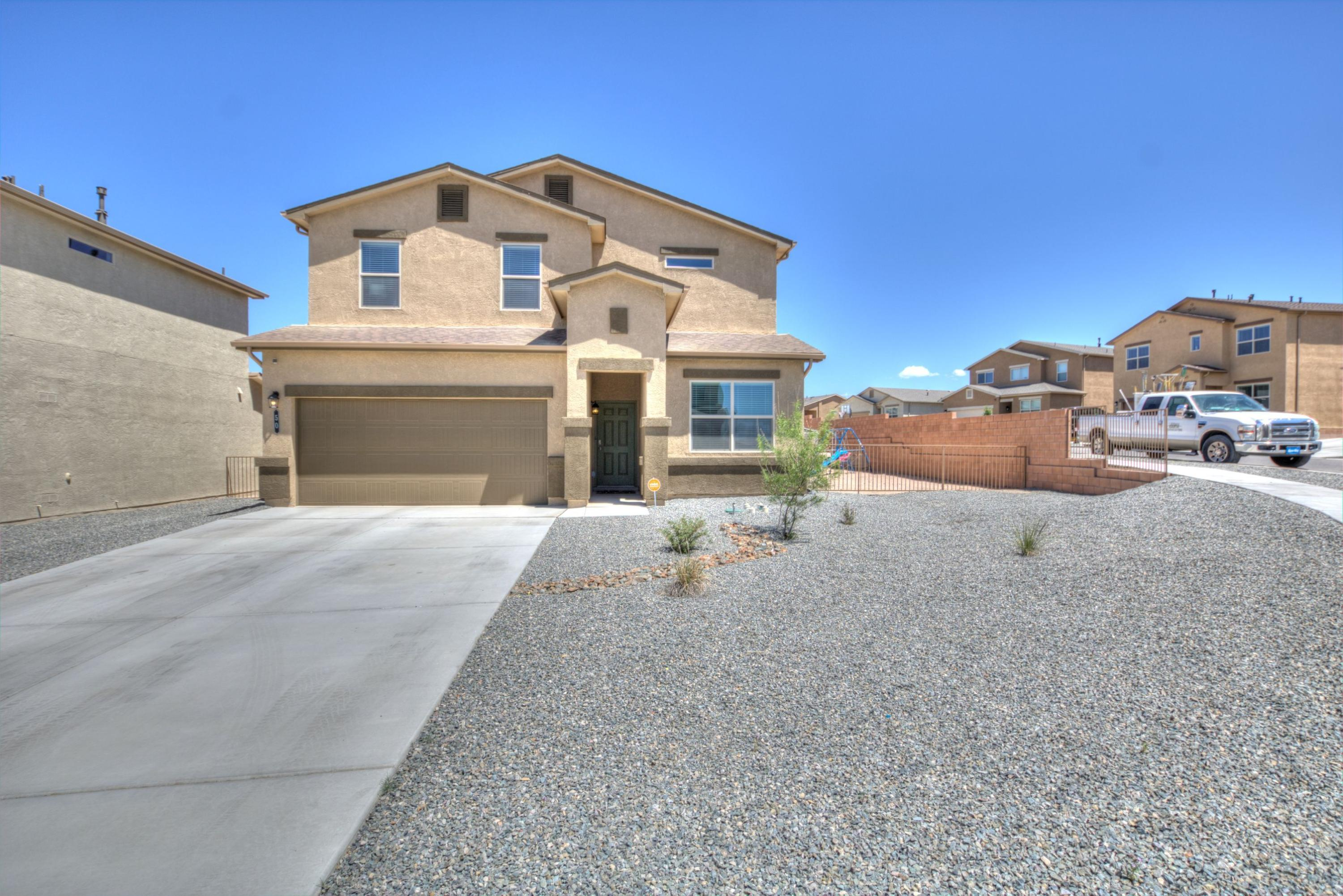 This NEARLY NEW home boasts one of the most sought after floor plans made by D.R. Horton Homes! It is located on a scenic corner lot in the master planned community of Eastland Hills. Kitchen boasts a large island, STAINLESS STEEL APPLIANCE PACKAGE, and opens up to the living room and covered patio - perfect for entertaining! Laundry room is outfitted with like new WASHER AND DRYER. Oversized loft is ideal for a game room or second living area, all bedrooms are bigger than average, and the huge Master Bedroom will comfortably fit a King Size bed and bedroom furniture. Make an appointment to see it today!