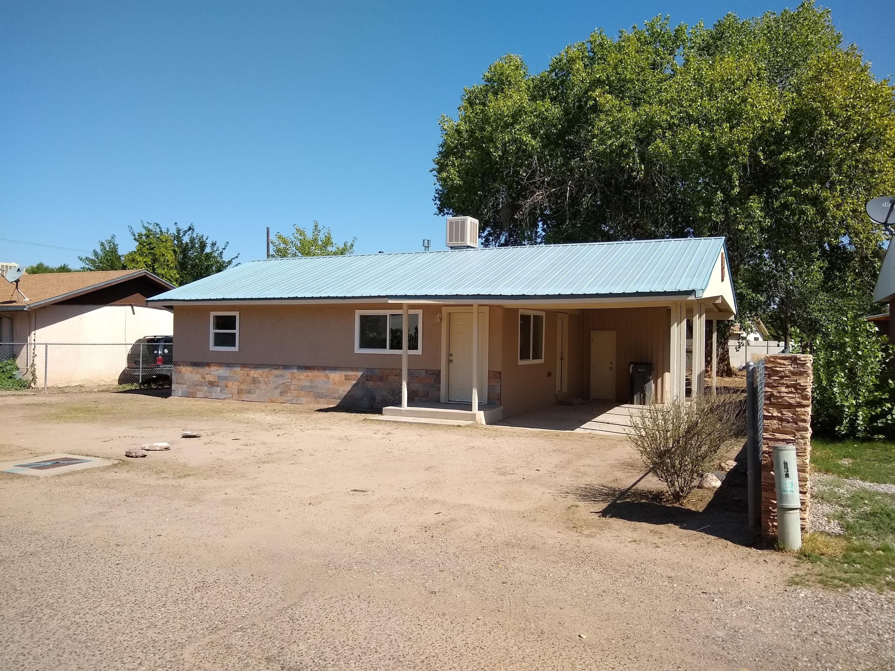 Beautiful 2 Bedroom - 1 bath. This home was totally remodeled in 2018. Great starter home. Large backyard with large shade tree.Work shed.  Very quiet street. Shopping, restaurants and churches nearby.