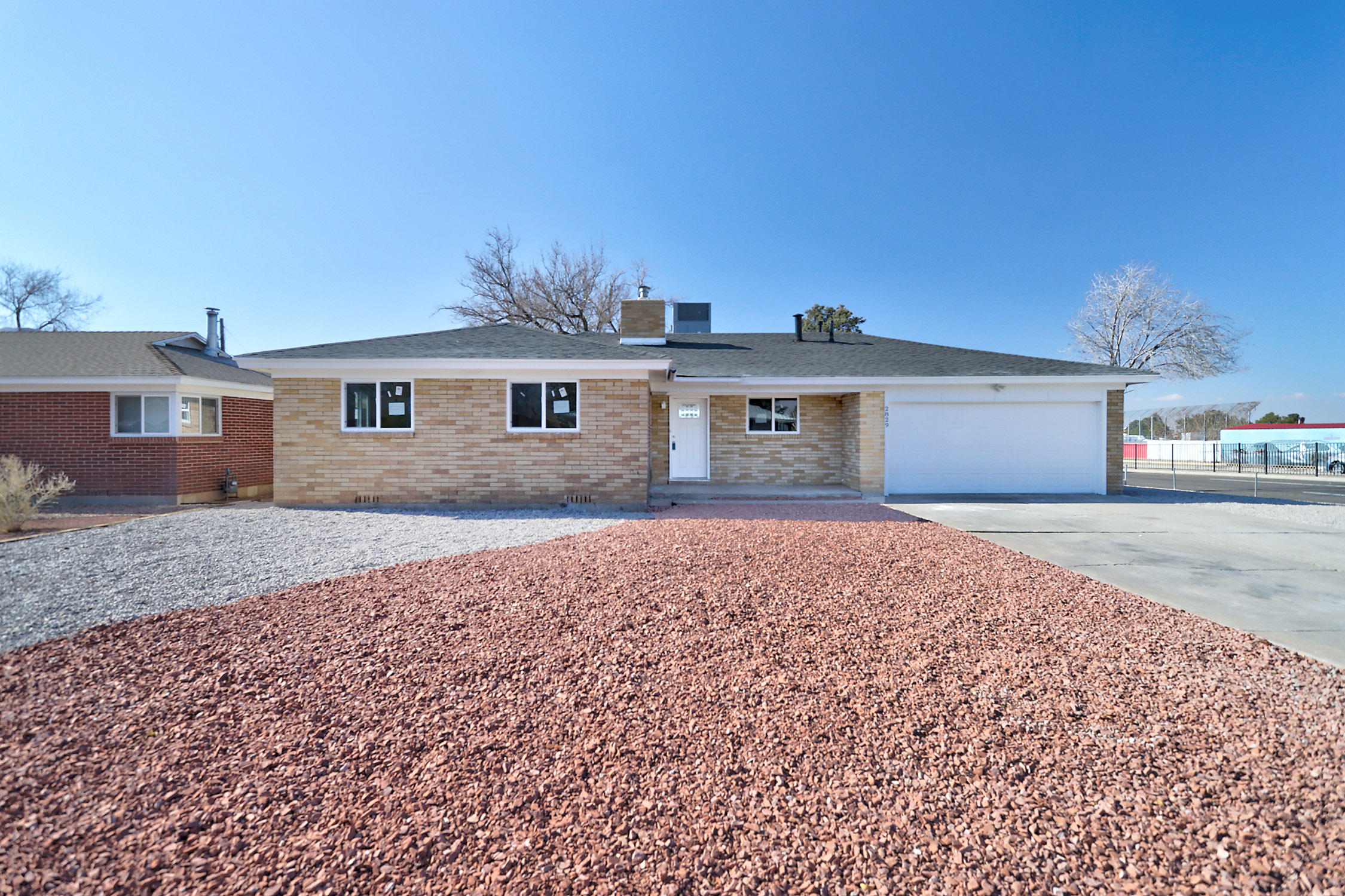 Move in Ready.  Great Remodel in Sandia school district.   New Roof, New Refrigerated air combo unit, New granite, new kitchen cabinets, new carpet, new paint, new tile, new water heater, new garage door opener, new stainless steel appliances, new windows, new fixtures.  open floor plan.  Back Yard Access.