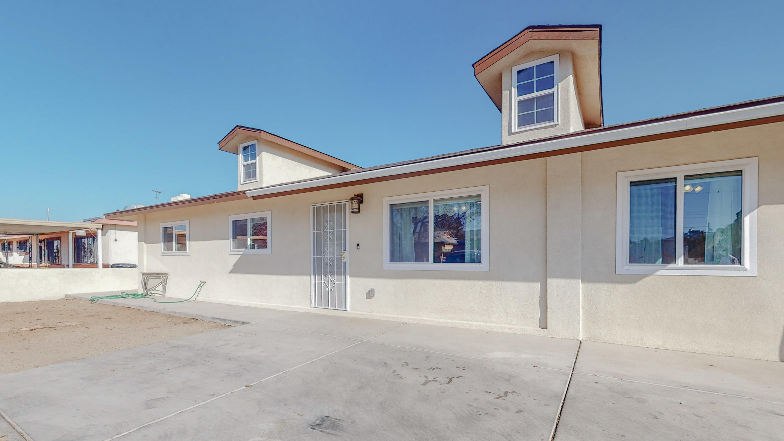 Come see this lovely possible 5 bedroom home.  It features 2 master suites with there own bathroom.  Newer windows, newer light fixtures, newer appliances, and granite counter tops.  There is also a newer hot water heater, newer hvac unit. and newer stucco.  Great storage and well laid out floorplan.  Great space for plenty of people or things.  This home has wonderful view from the back yard.  Great location too!