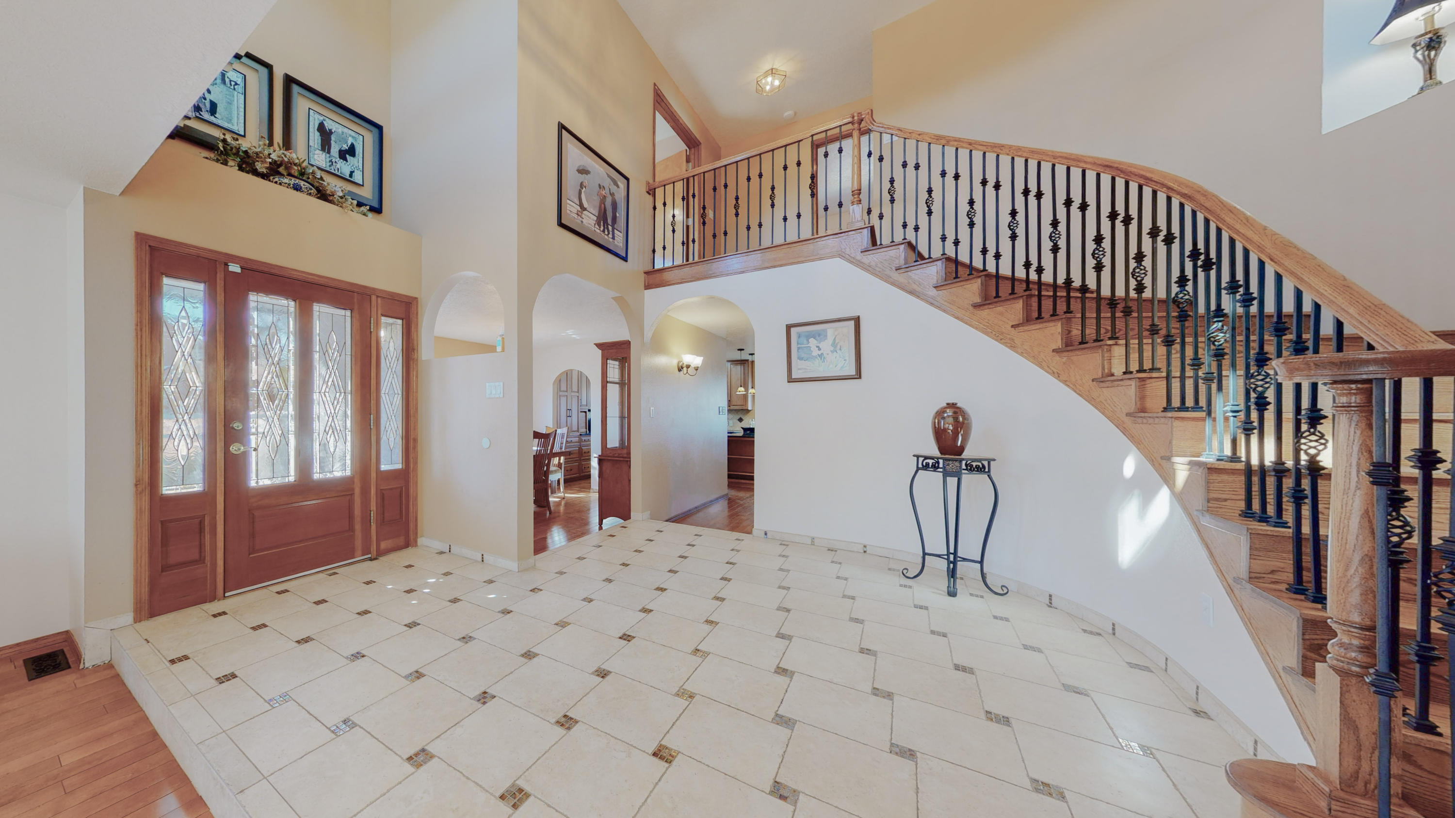 Welcome home to this Lovely 2-story with Sweeping Oak Staircase that leads to a spacious Master bedroom with En-Suite Bath, Soak the day away in the jetted tub. Enjoy Sunset Views off Private Balcony, Gorgeous Updated Kitchen W/Granite Countertops, Maple Custom Cabinets, Solid Wood Floors in LR,Loft, Dining. Radiant Baseboard Heating,Cozy up to the Gas Fireplace W/Blower, Backyard access, parking for RV, Mature Landscaping and Low Maintenance Turf in Backyard, 45 Gal. Water heater less than 1-year old, Stucco & Windows 5yrs. old, Over sized 2-Car Garage W/Workshop, Security Gate at Entry