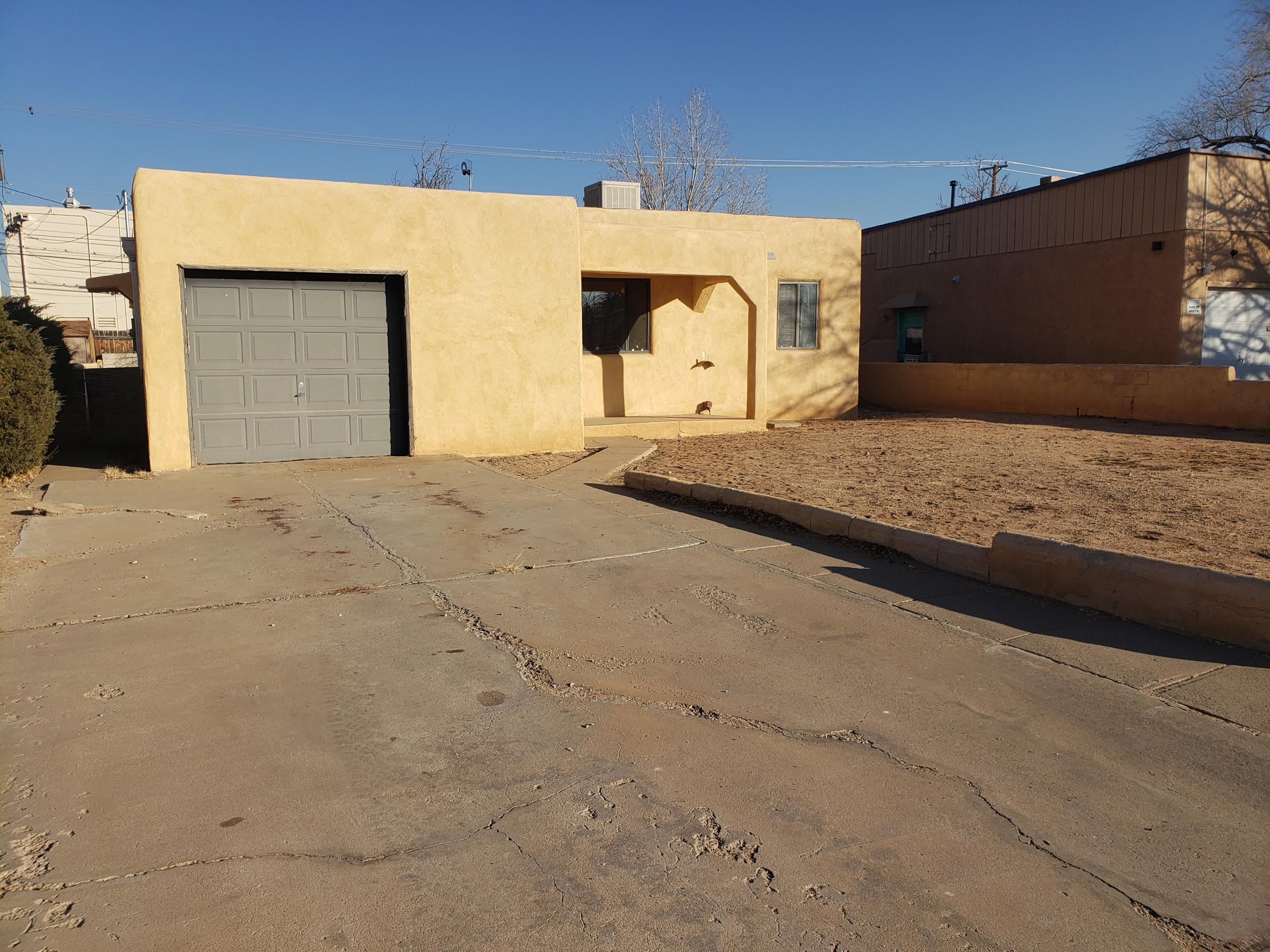 Conveniently located near Kirtland AFB, UNM & the VA hospital, This charming and well-maintained 2 bedroom home is move in ready! With some upgrades, could be a show stopper for its new owner to call home or an investor to rent out for extra income. Newer furnace and thermal pane windows, large living area, large backyard and across the street from elementary school. Make an offer today!