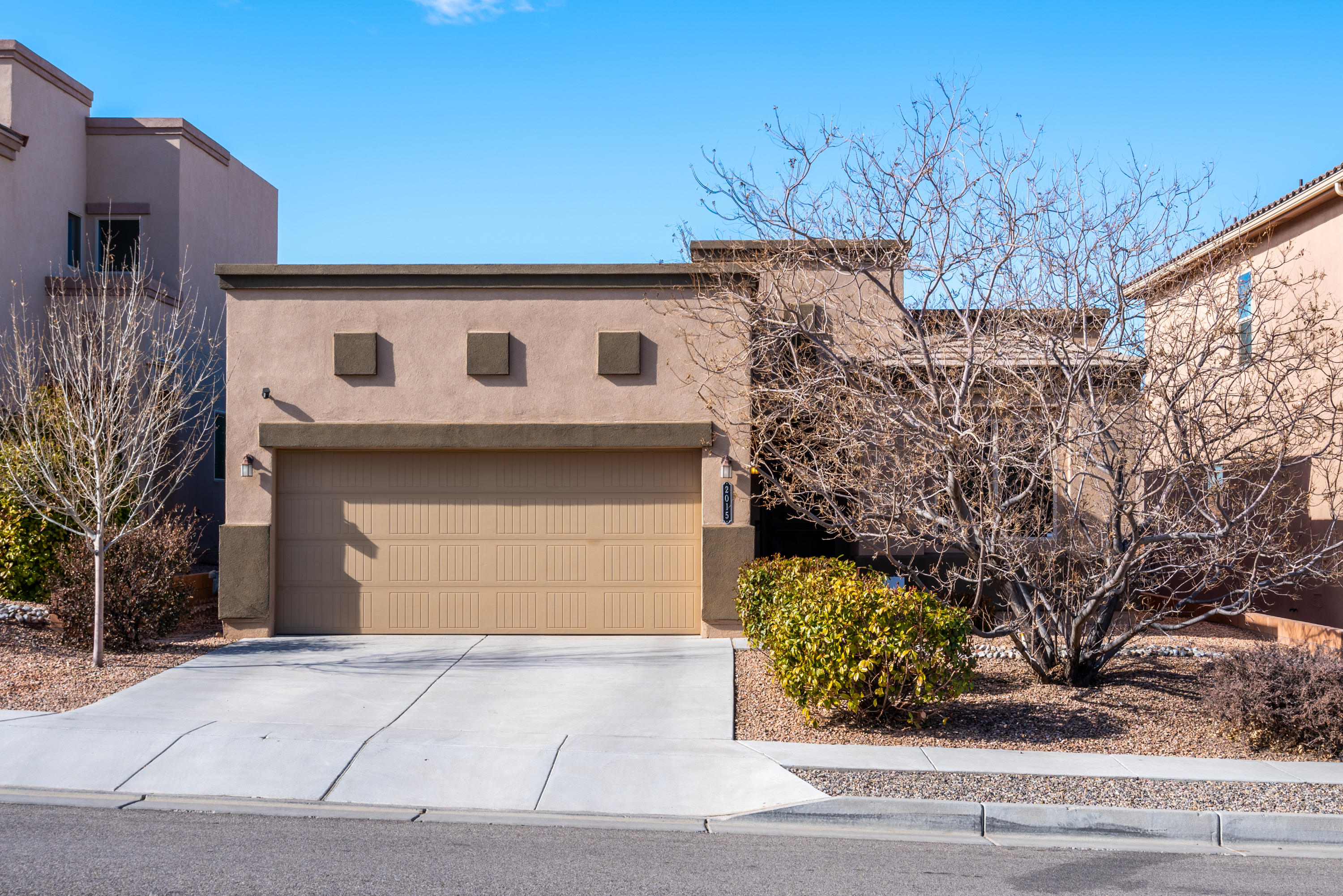 Well Maintained, DR Horton, Green Build NM Certified Home located in Volterra Village. Enjoy beautiful mountain views everyday from your front yard. This three bed, two bath, has it all!  Spacious kitchen with gas range, a pantry for storage, & plenty of counter space! The master is separate from the other two bedrooms, & has a large bathroom with extra storage & a large walk- in closet!  The Master bath has a large standing shower, a double vanity, and a water closet for privacy. Don't forget about the laundry room and two car garage! The Backyard is a Complete Low Maintenance Backyard with a beautiful NEW extended patio and, freshly laid turf, and the rest of the yard is xeriscaped w/ Flagstone. Schedule an appointment today, you won't want to miss this one!WASHER & DRYER DO NOT CONVEY